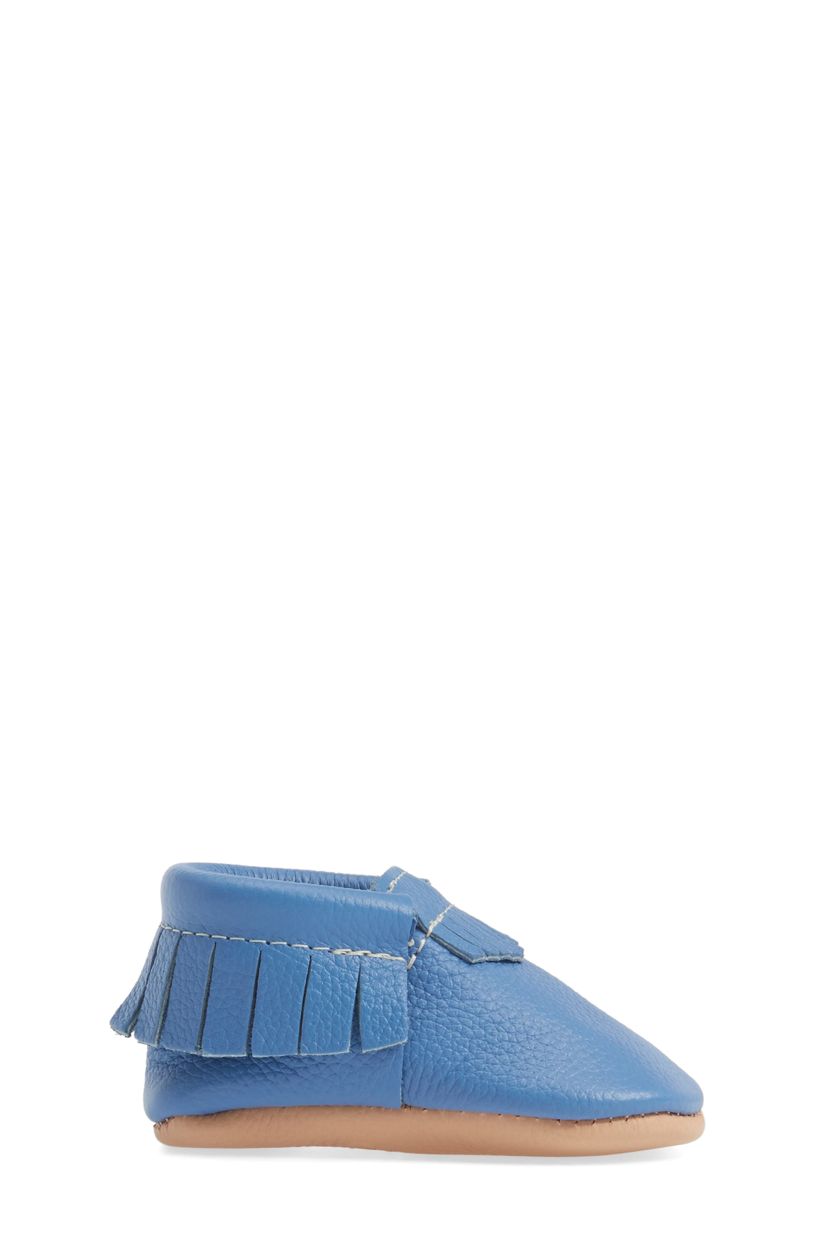 Moccasin,                             Alternate thumbnail 3, color,                             Blue Leather