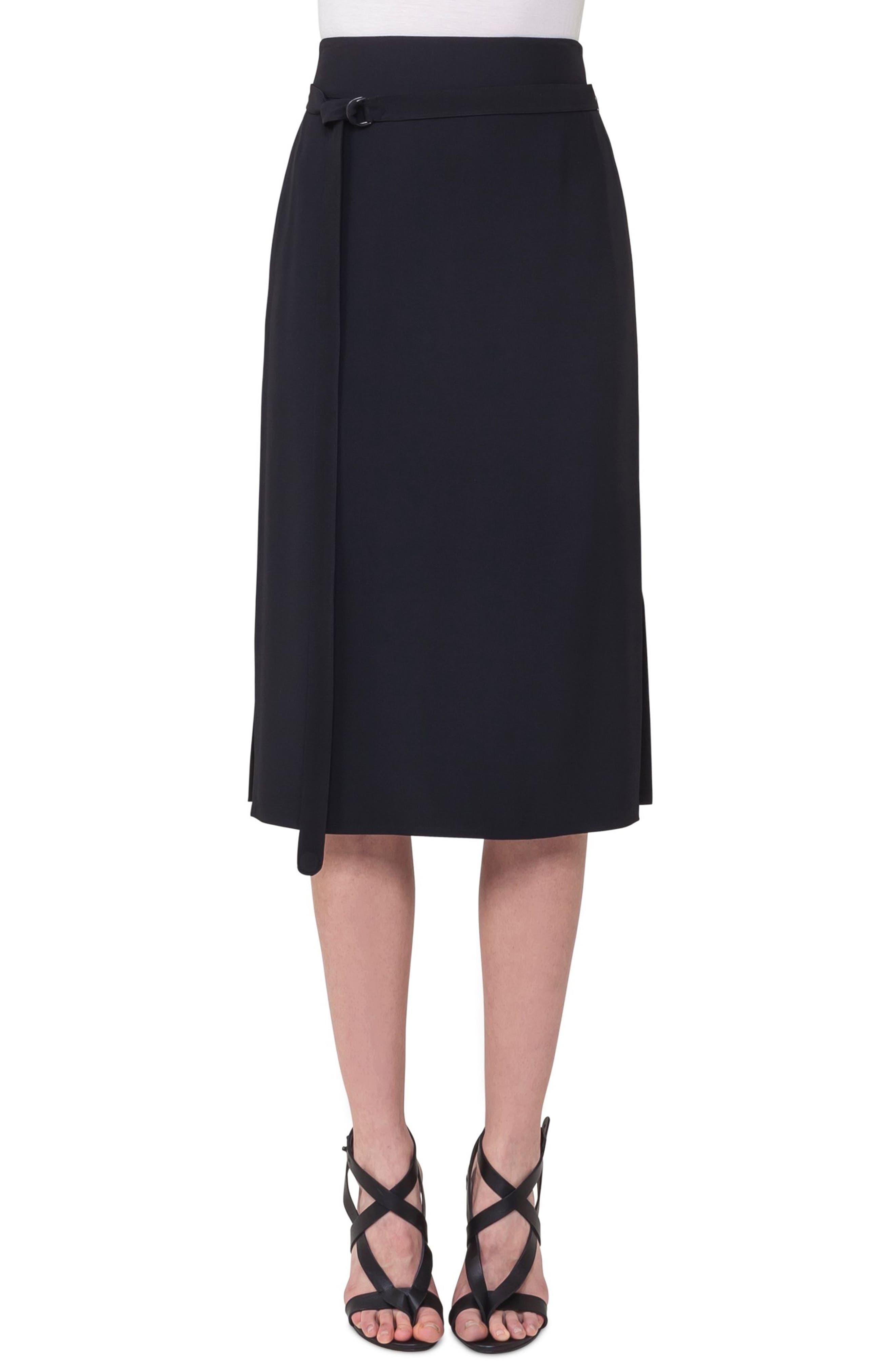 Side Zip Strap Skirt,                         Main,                         color, Black