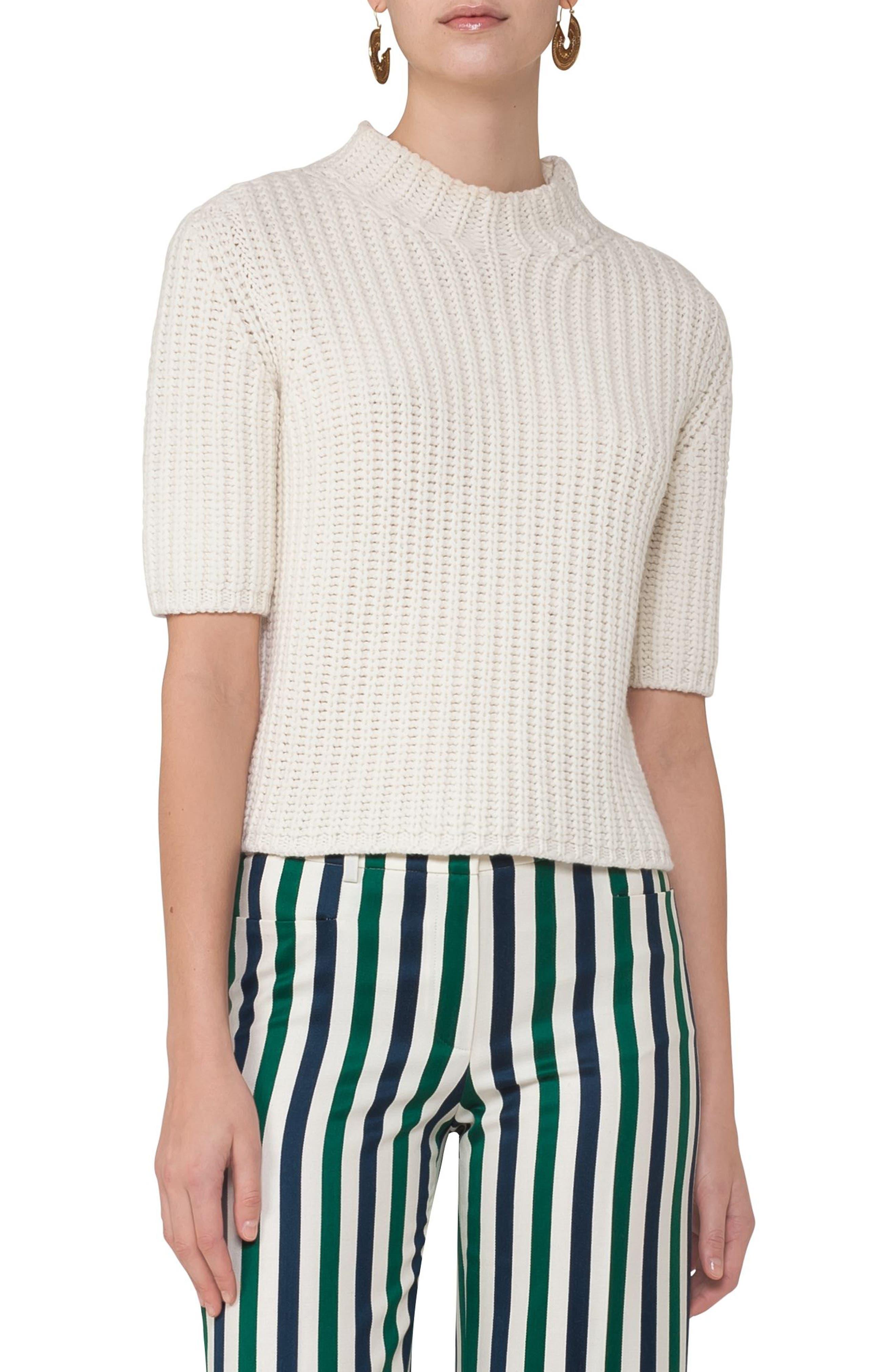Akris punto Chunky Knit Wool & Cashmere Sweater
