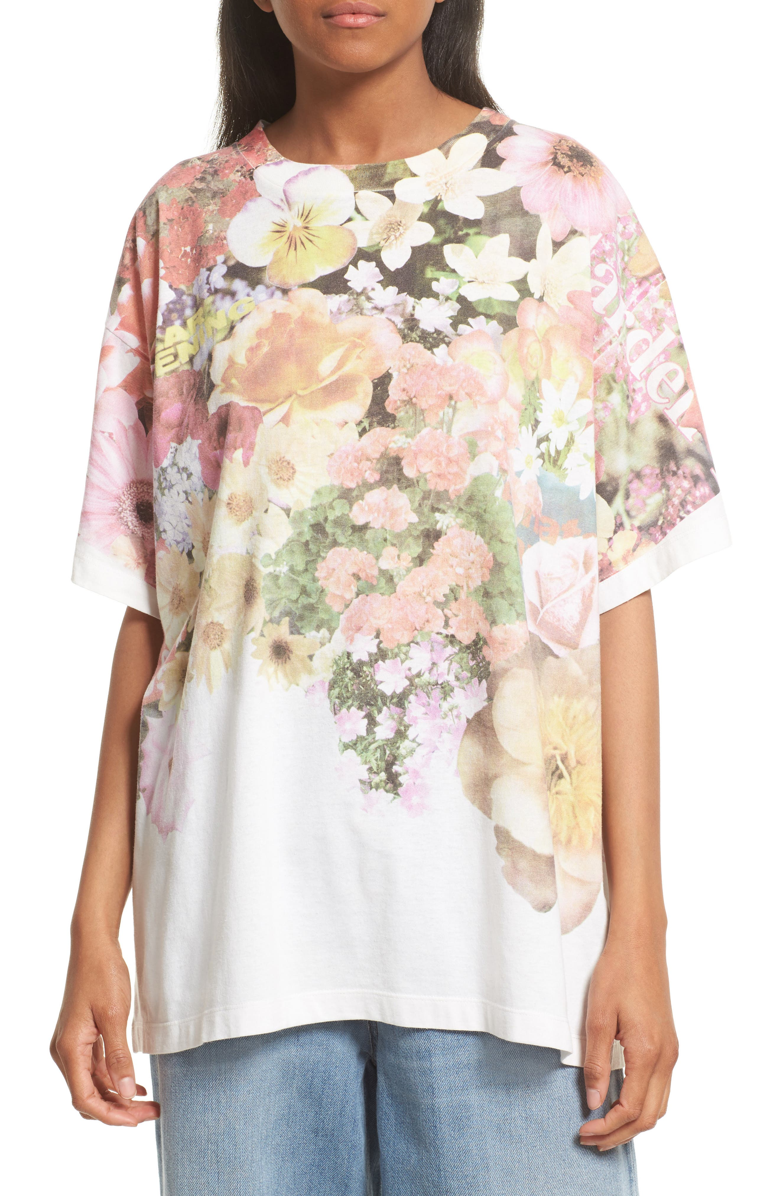 Floral Print Tee,                         Main,                         color, Flower Print