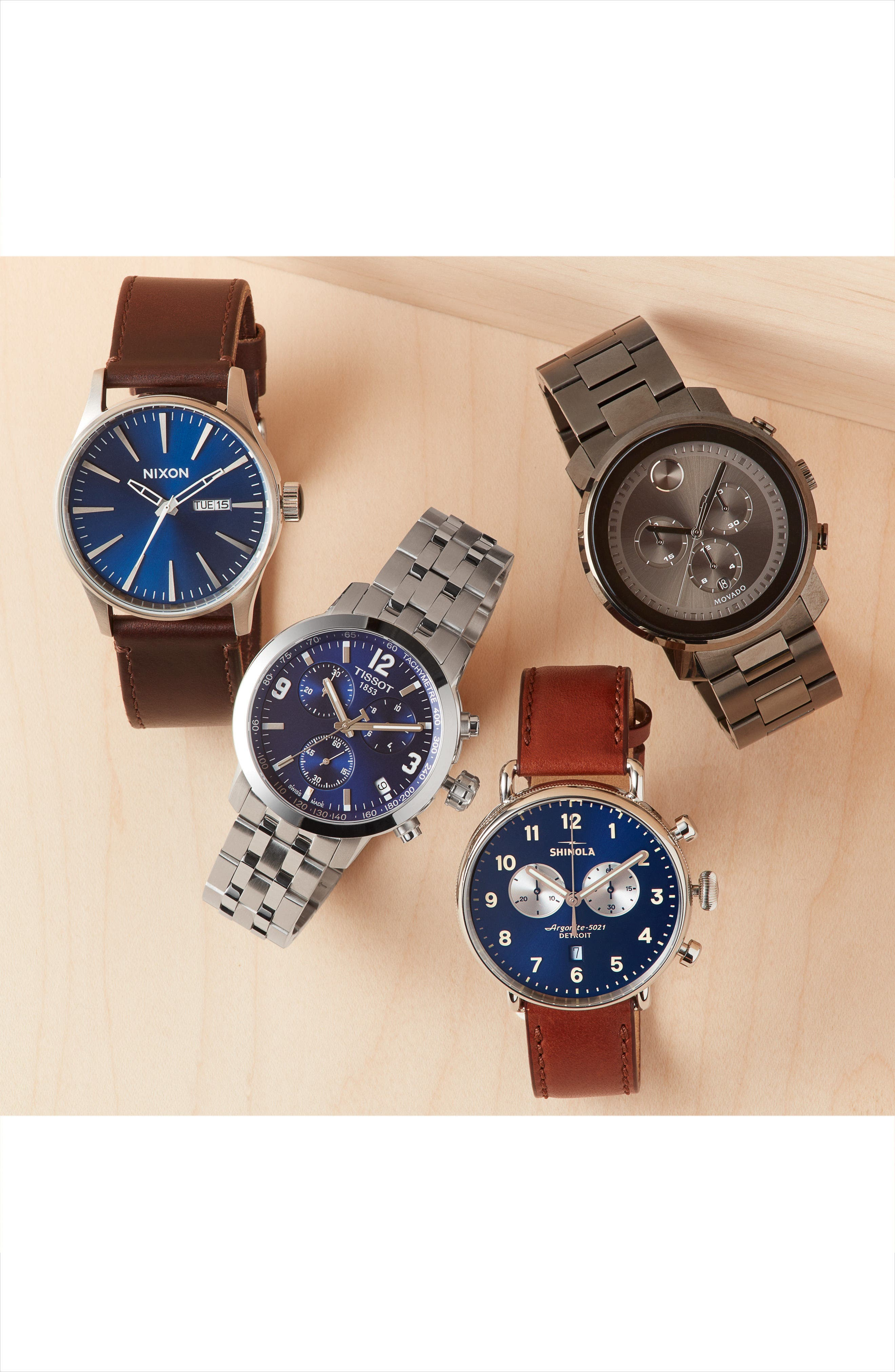 Alternate Image 4  - Shinola The Canfield Chrono Leather Strap Watch, 43mm