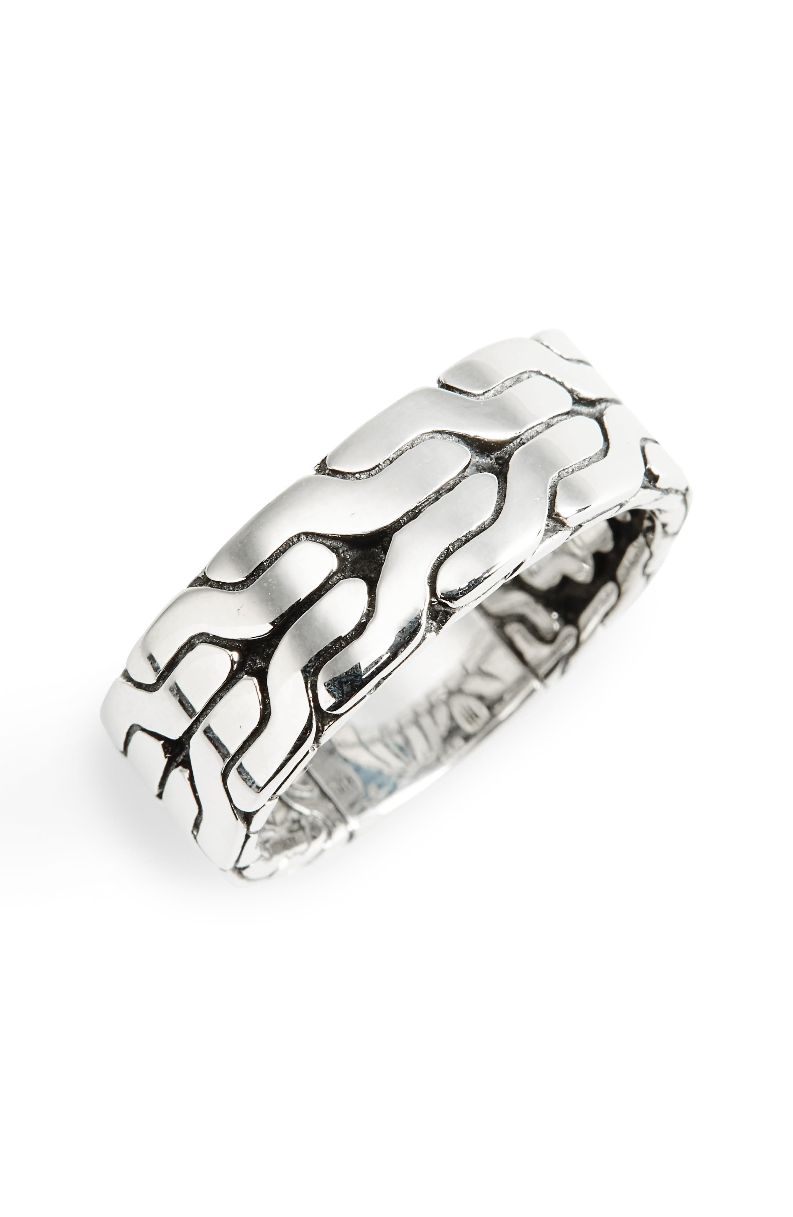 Classic Chain Band Ring,                             Main thumbnail 1, color,                             Silver