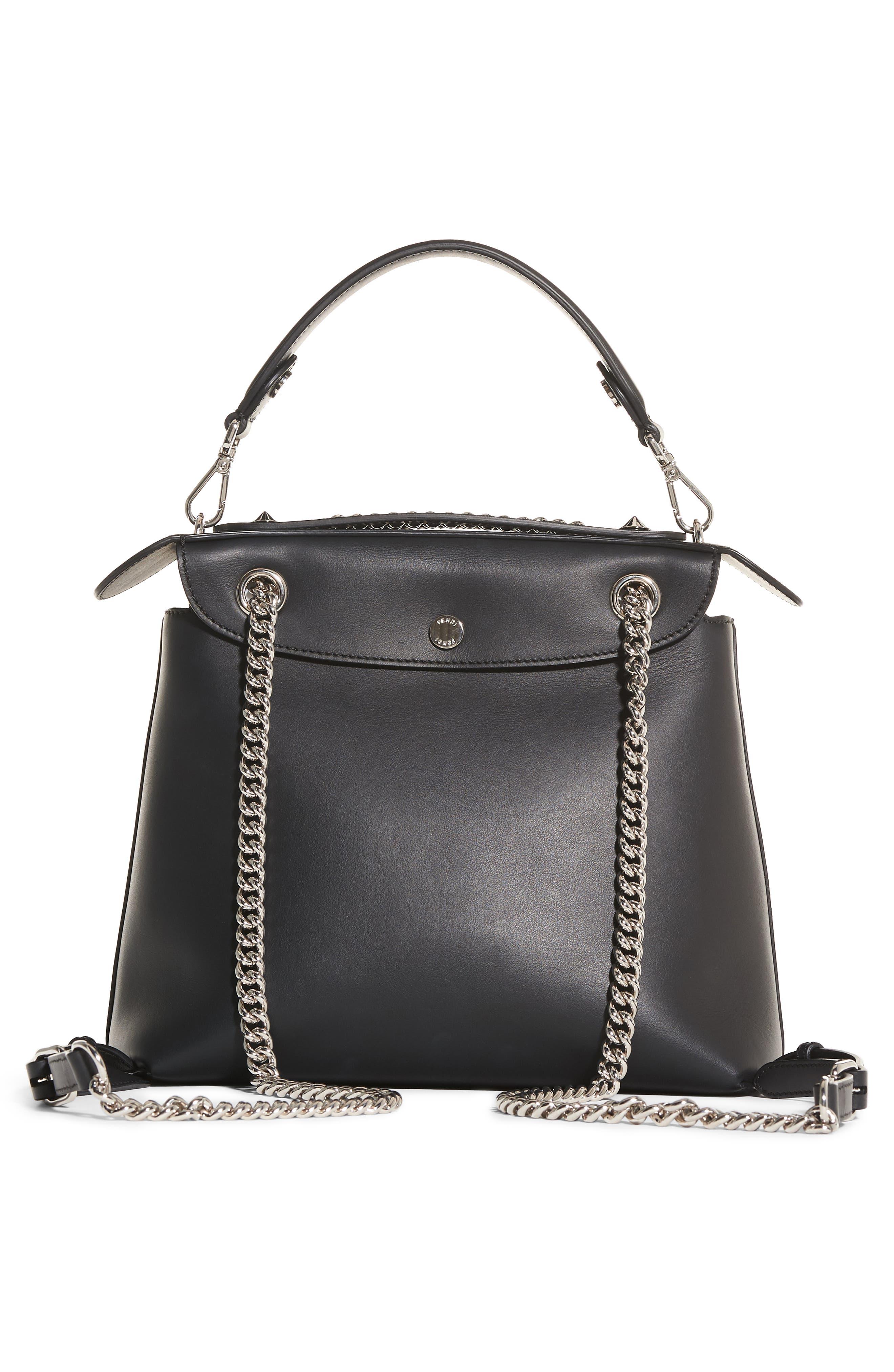 Mini Back to School Leather Backpack,                             Alternate thumbnail 3, color,                             Black Palladium