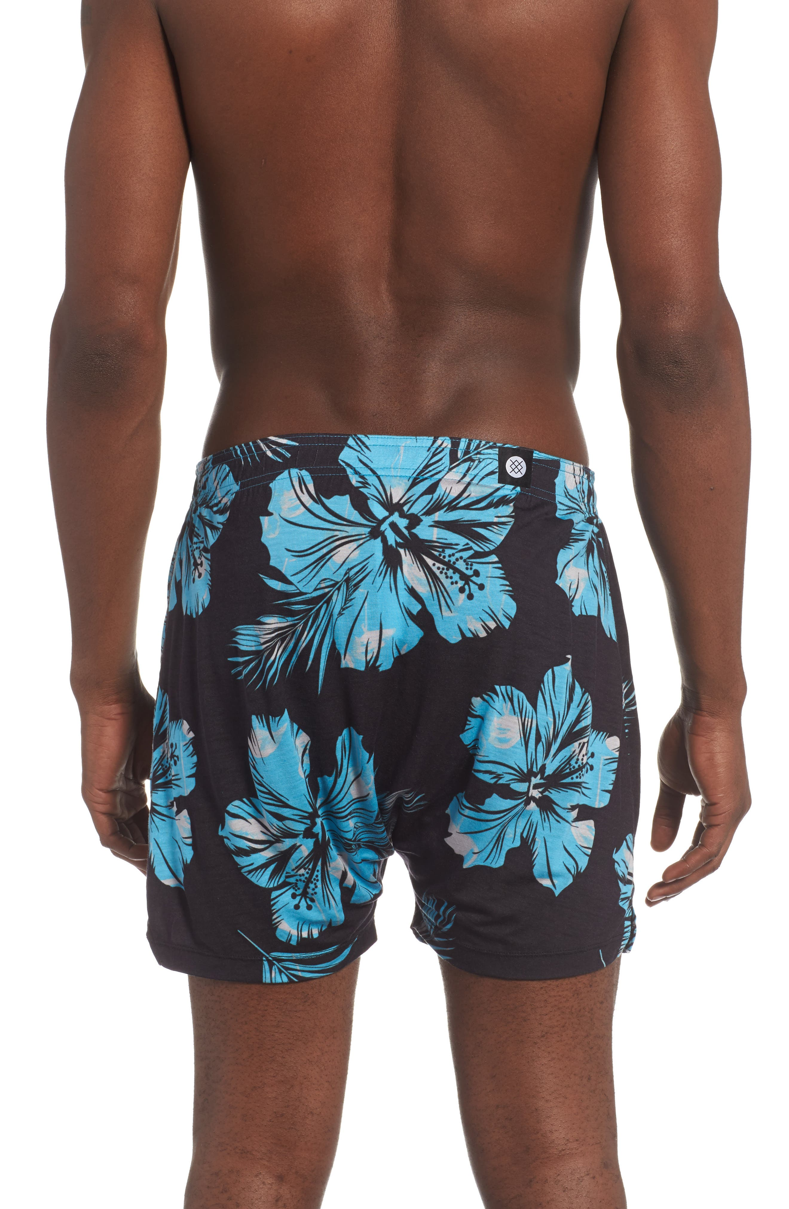 Mercato Flamingo Flowers Boxer Briefs,                             Alternate thumbnail 2, color,                             Blue