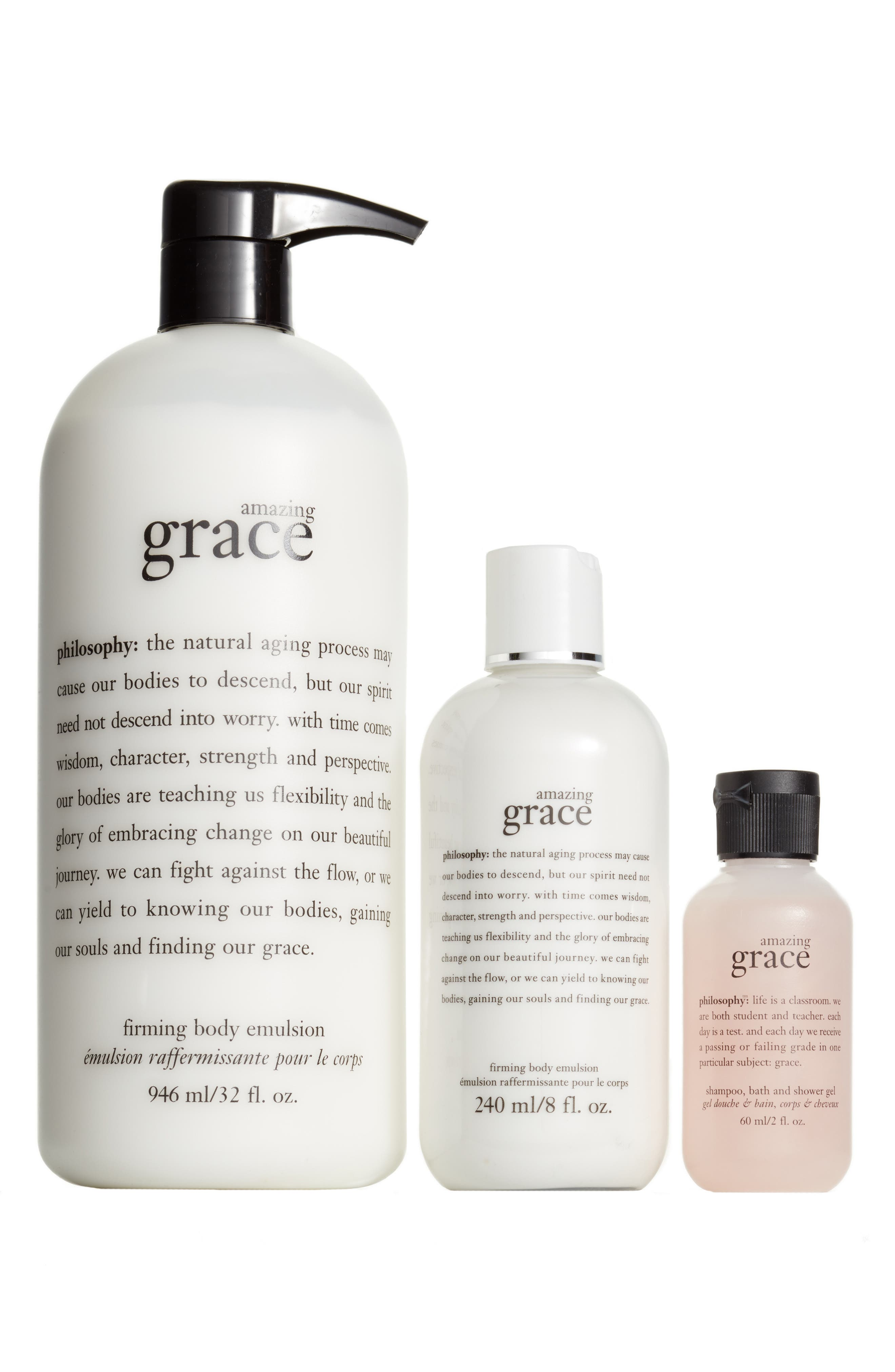 philosophy amazing grace body emulsion shower gel trio philosophy amazing grace body emulsion shower gel trio nordstrom exclusive 83 value nordstrom