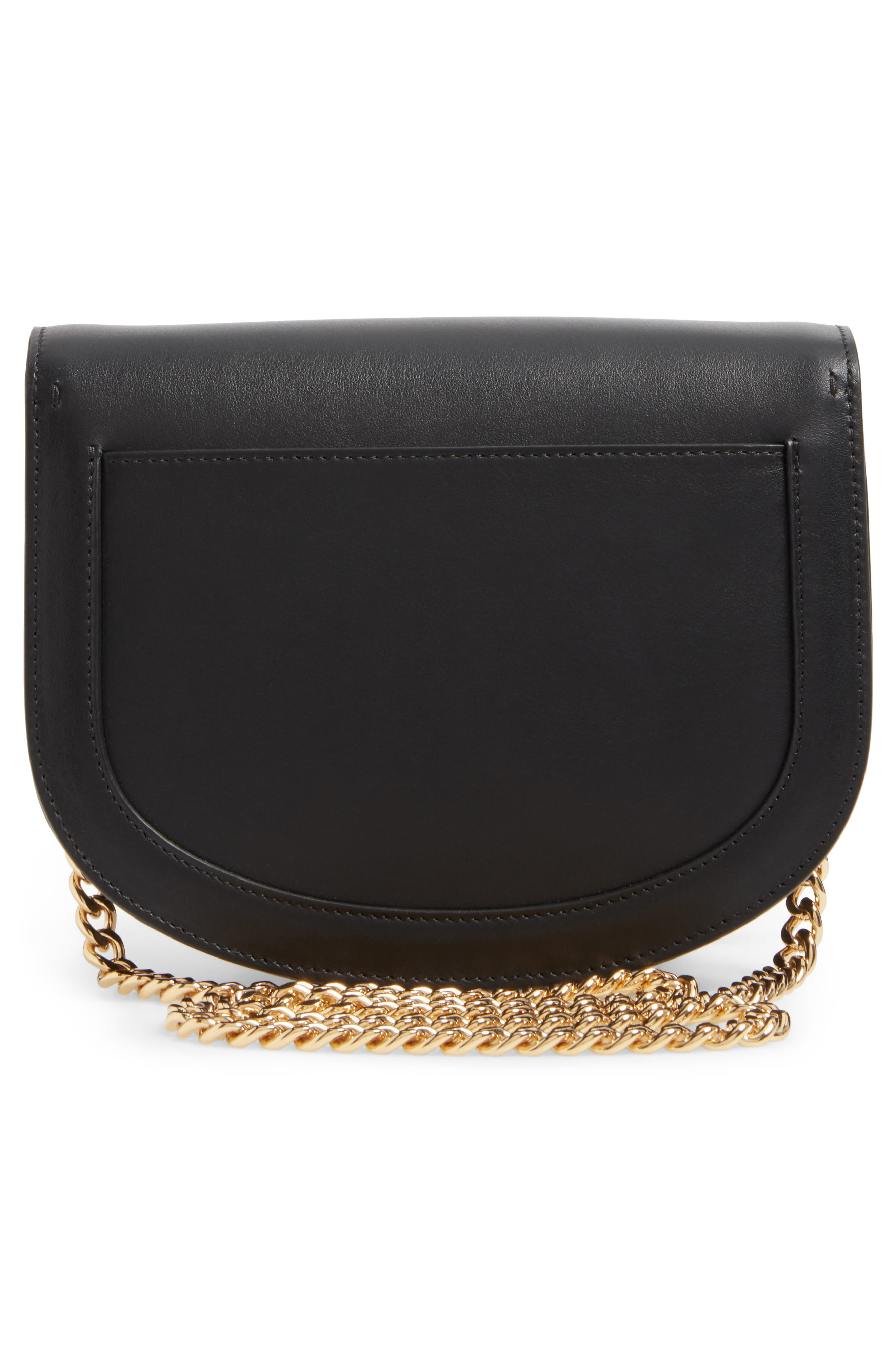Leather Bag,                             Alternate thumbnail 3, color,                             Black