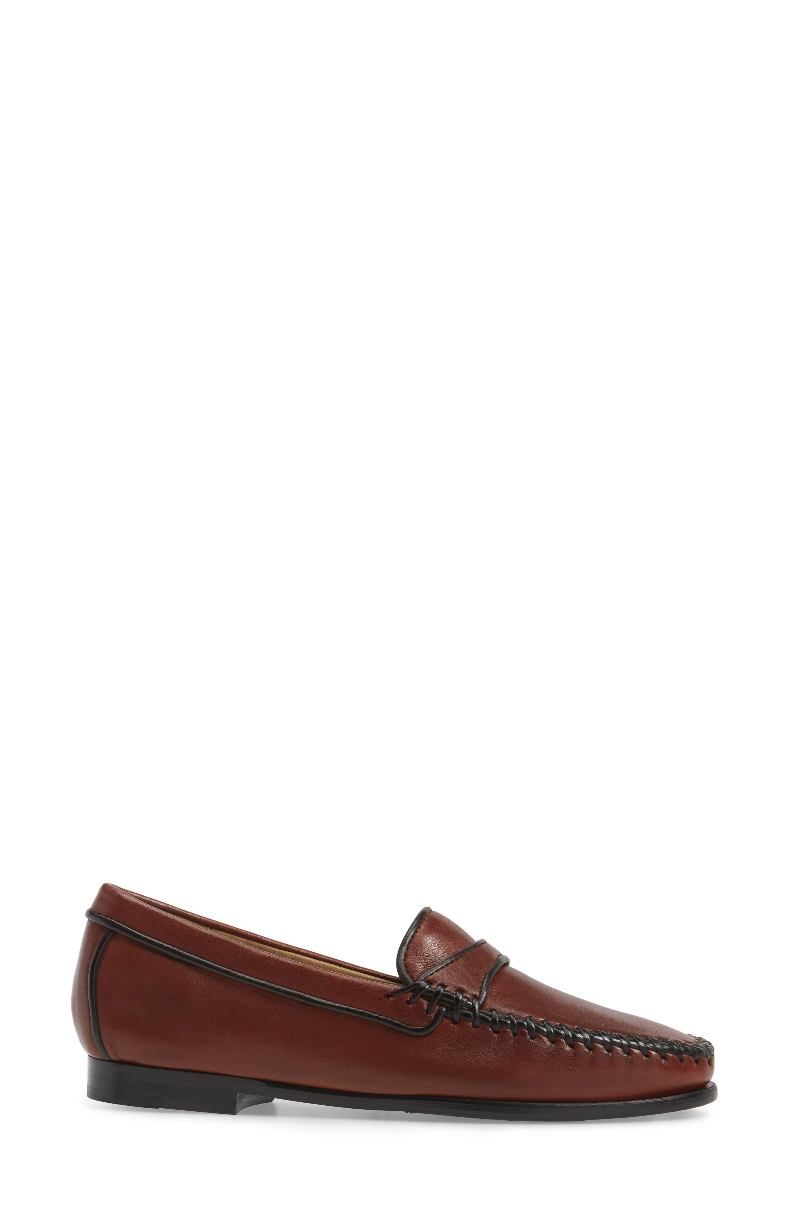 Aria Loafer,                             Alternate thumbnail 3, color,                             Vintage Luggage Leather