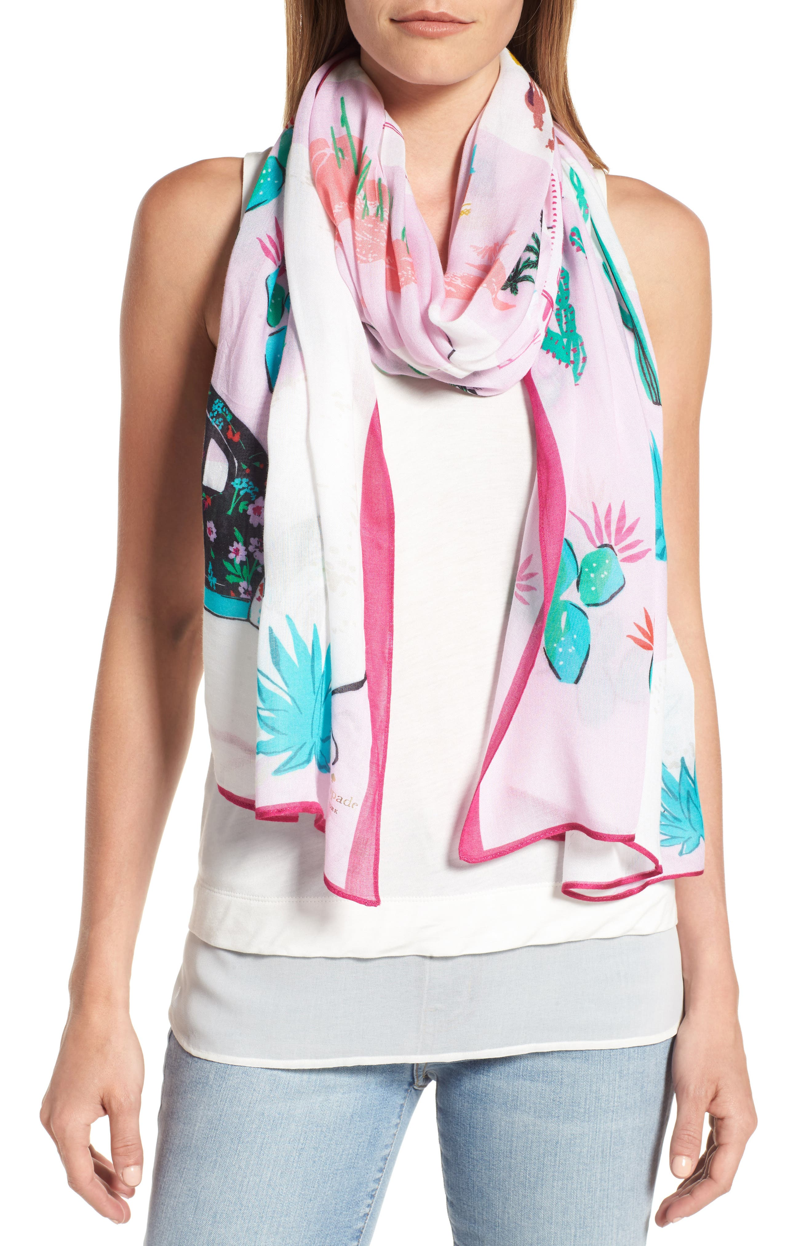 KATE SPADE NEW YORK roadmap oblong scarf
