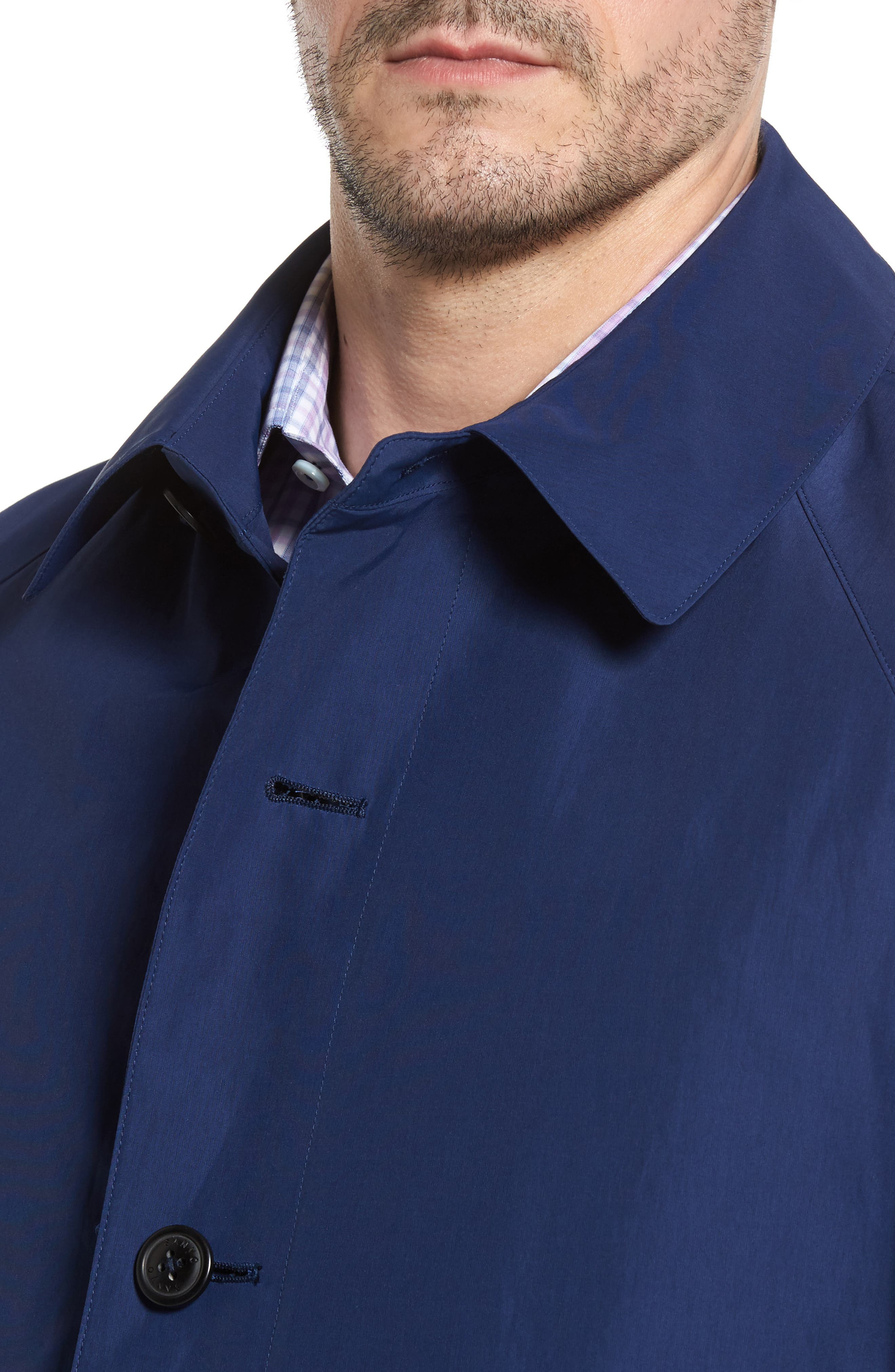 Austin Cotton Blend Raincoat,                             Alternate thumbnail 4, color,                             Royal Blue