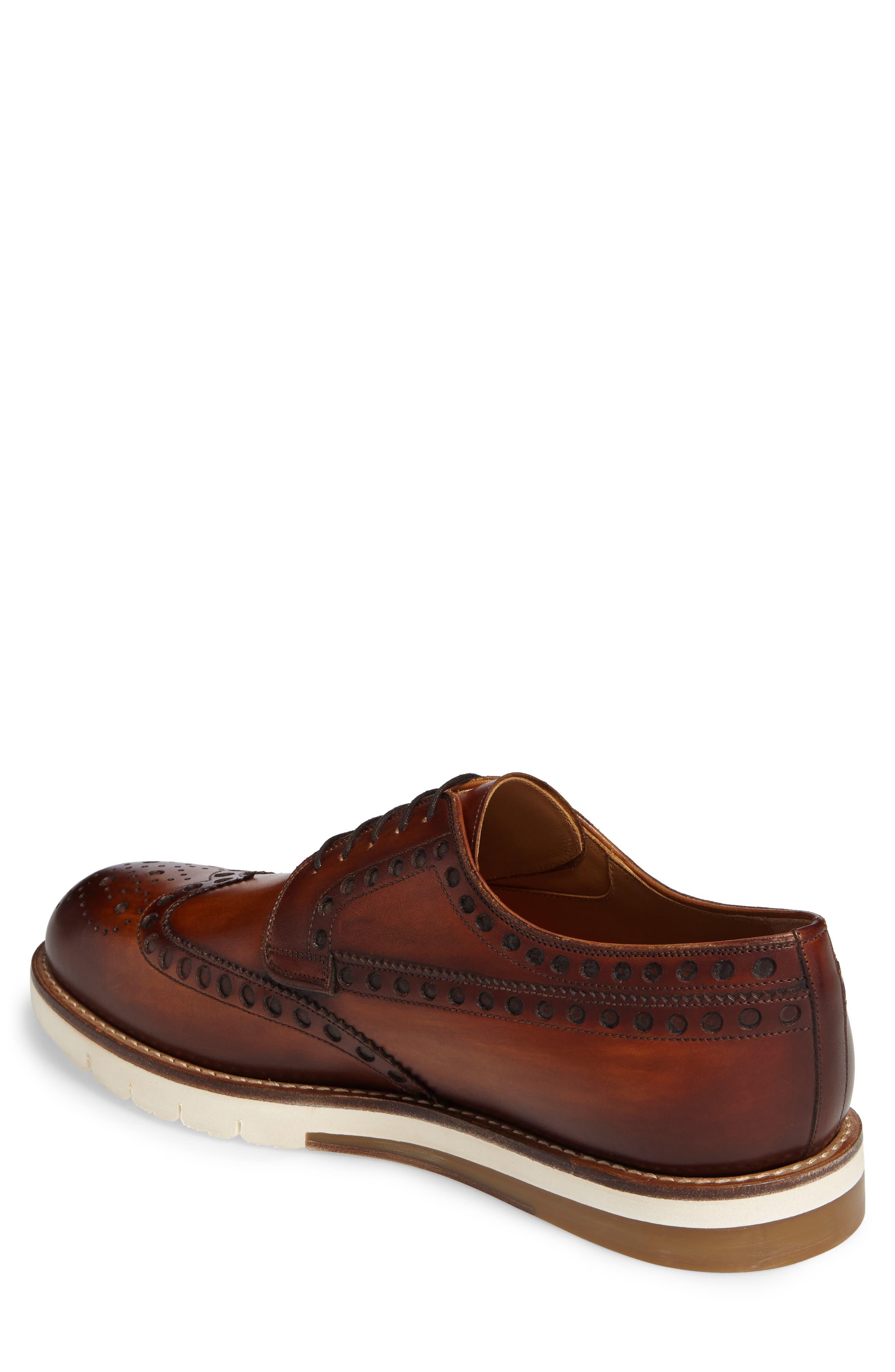 Stefano Wingtip,                             Alternate thumbnail 2, color,                             Cuero Leather