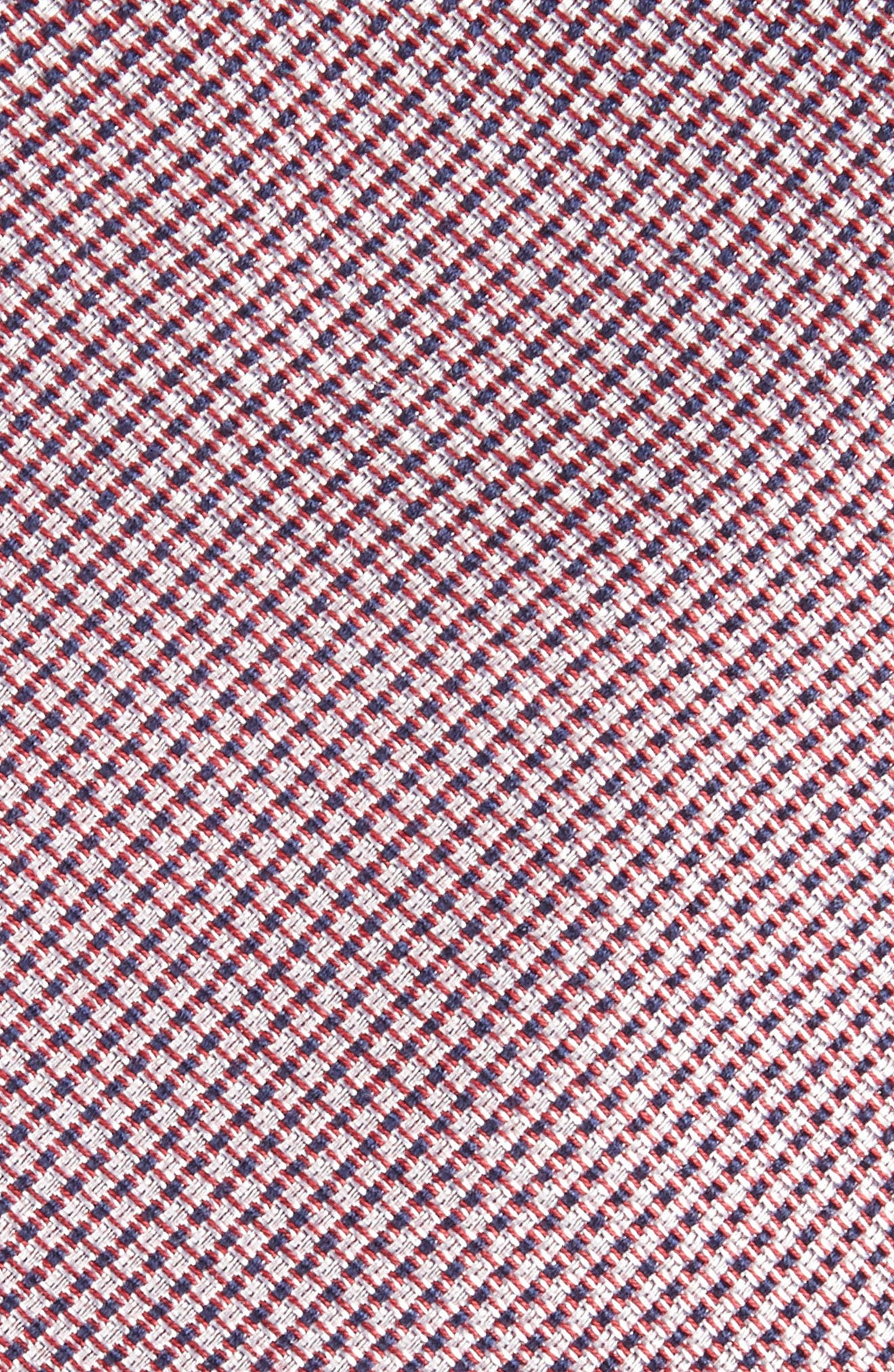 Alternate Image 2  - Nordstrom Men's Shop Solid Silk & Cotton Skinny Tie