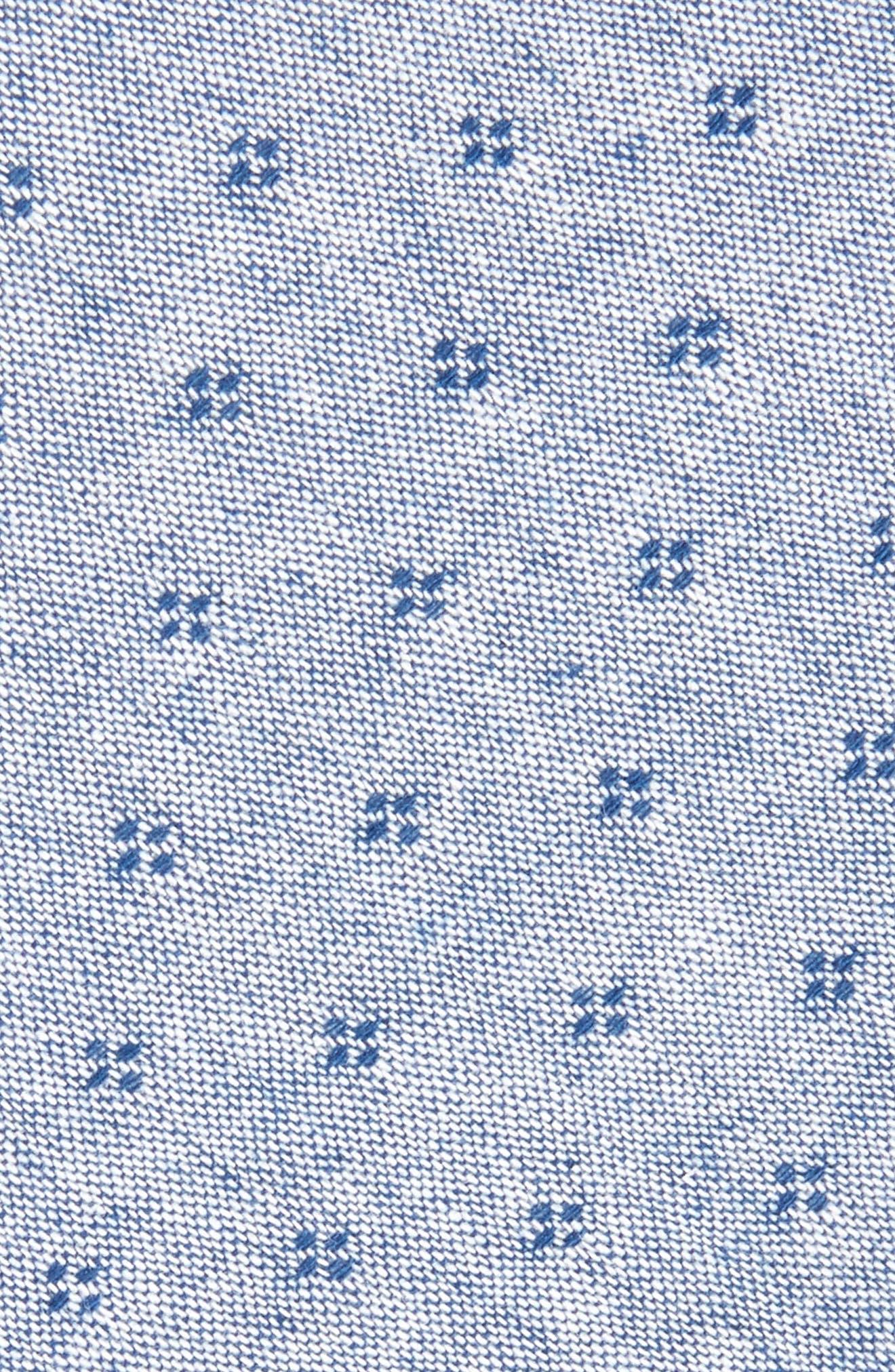 Alternate Image 2  - Nordstrom Men's Shop Dot Cotton Skinny Tie