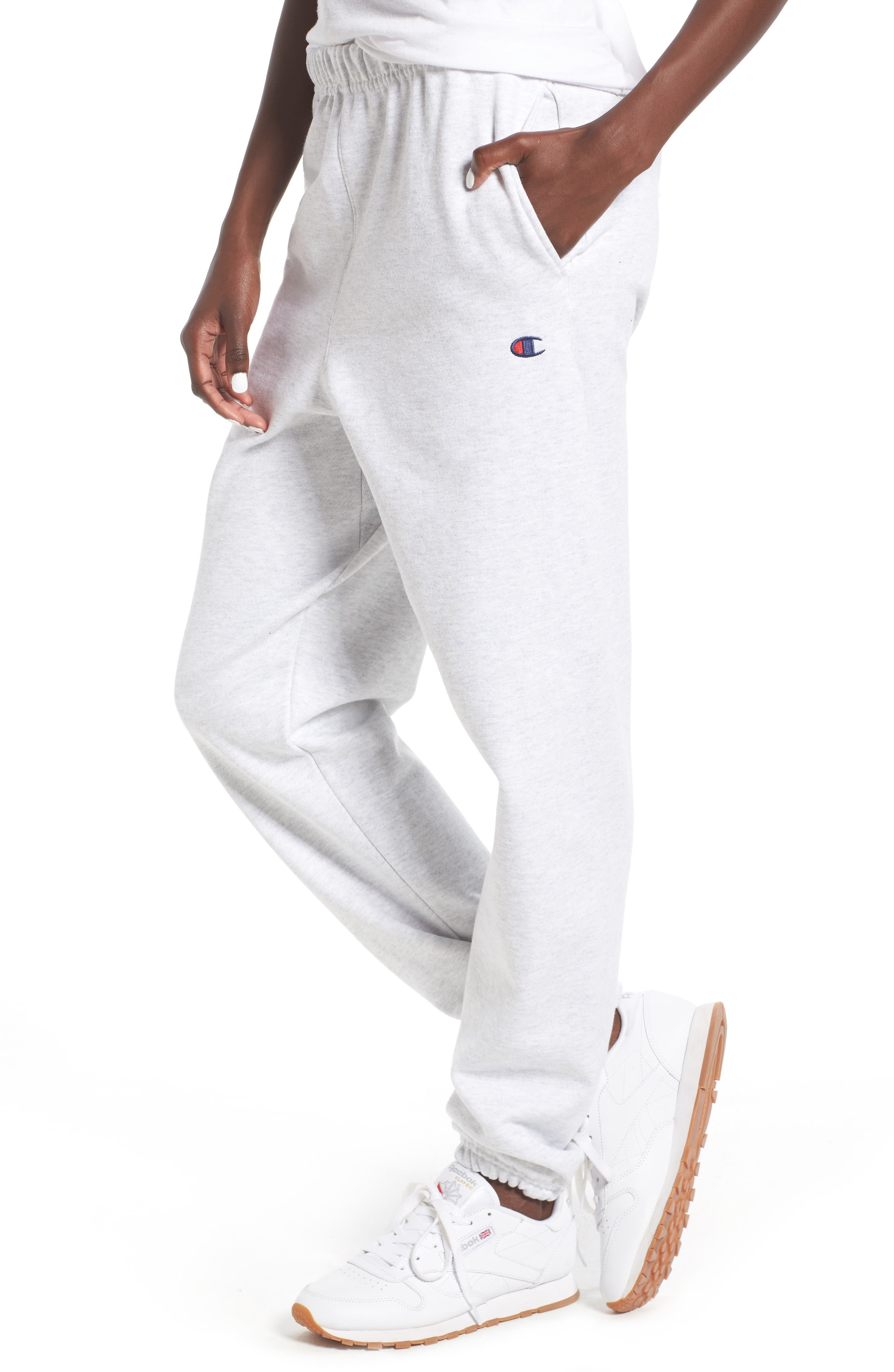 Sweatpants,                             Main thumbnail 1, color,                             Silver Grey