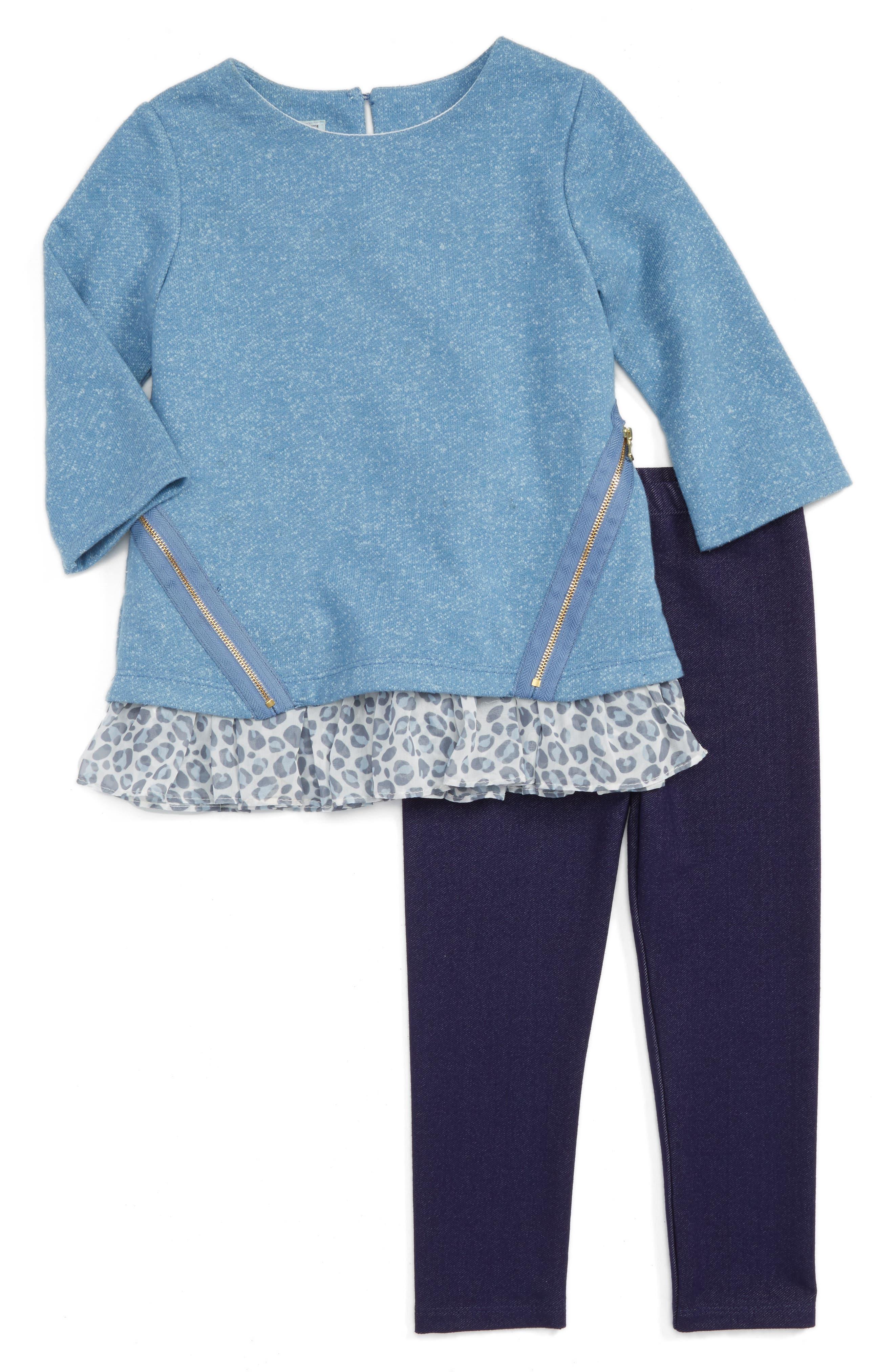 Pippa & Julie Tunic & Leggings Set (Toddler Girls & Little Girls)