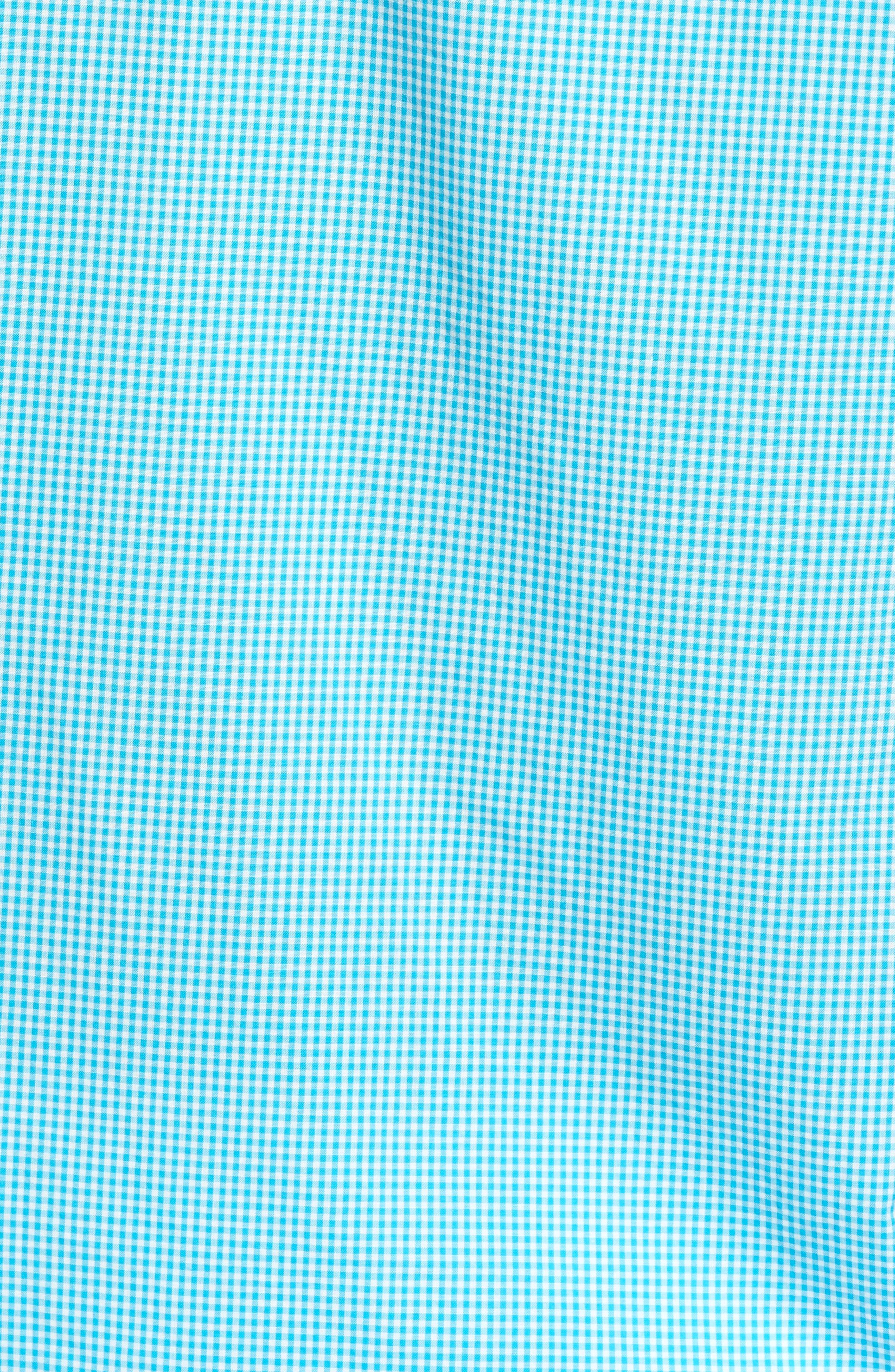 Summerweight Slim Fit Sport Shirt,                             Alternate thumbnail 5, color,                             Bonid Gingham Blue