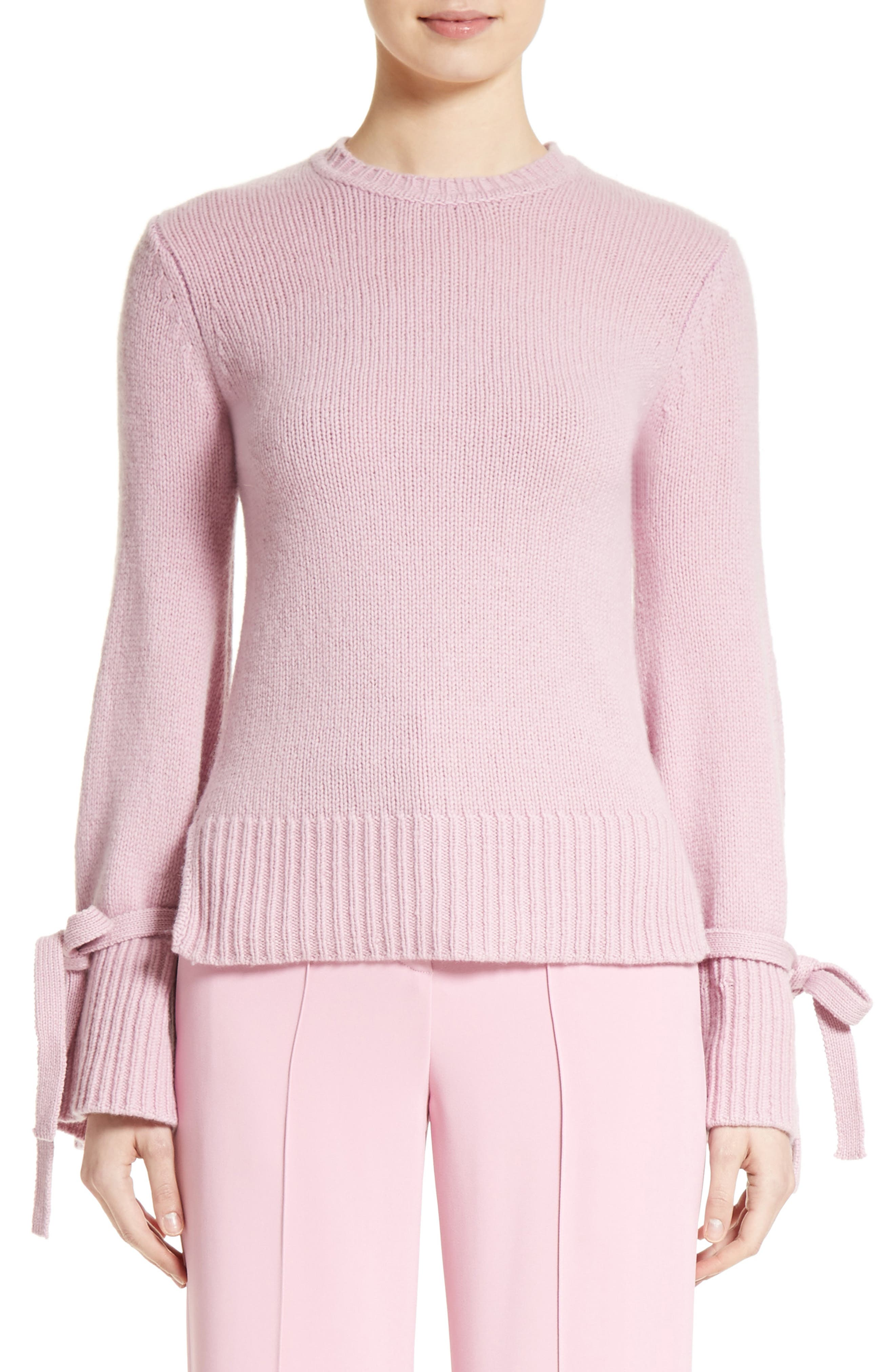 Adam Lippes Wool & Cashmere Bell Sleeve Sweater