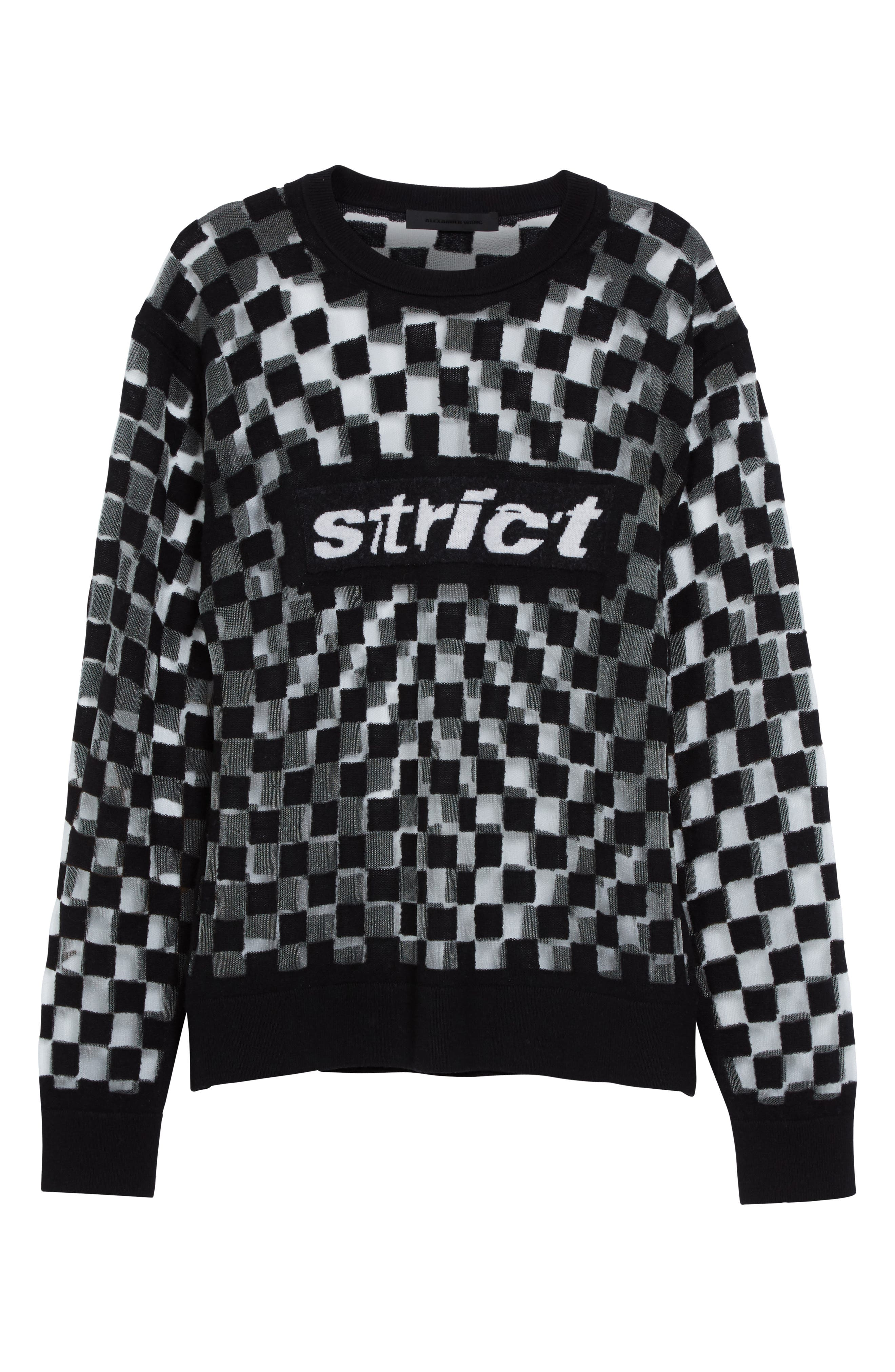 Alternate Image 4  - Alexander Wang Checkerboard Pullover