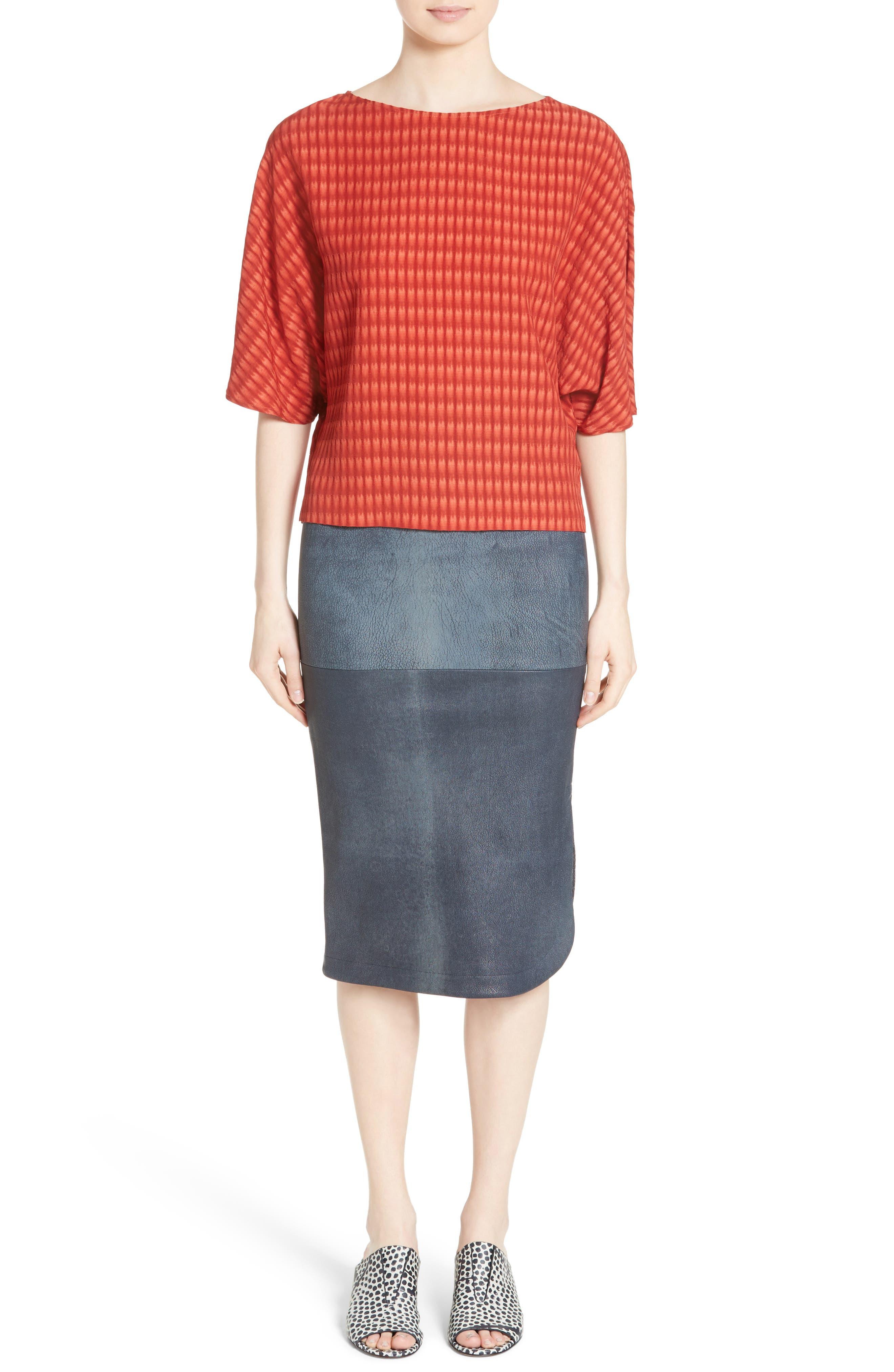 Alternate Image 8  - Zero + Maria Cornejo Rai Leather Curved Skirt