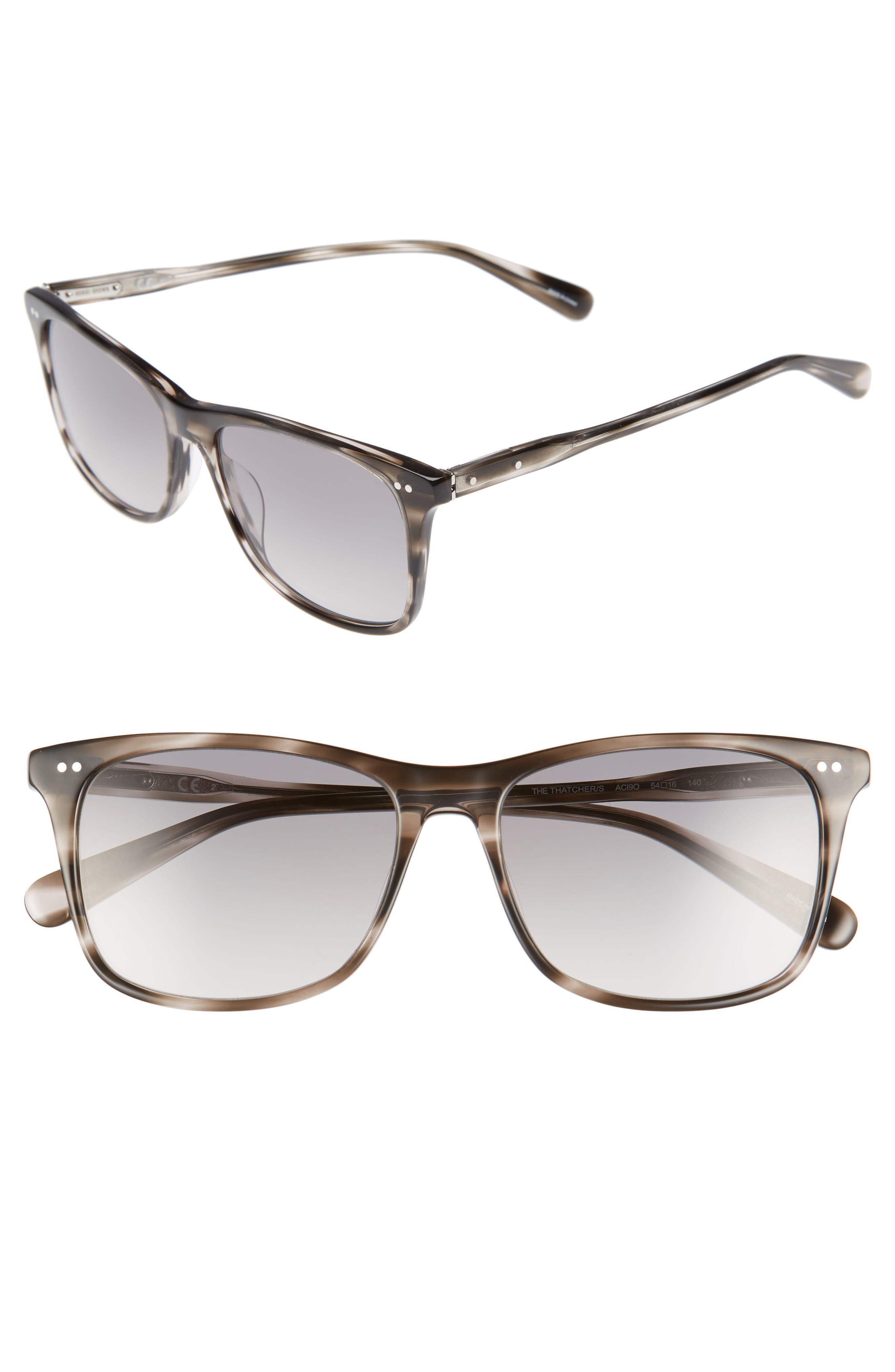 The Thatcher 54mm Gradient Sunglasses,                             Main thumbnail 1, color,                             Grey Havana