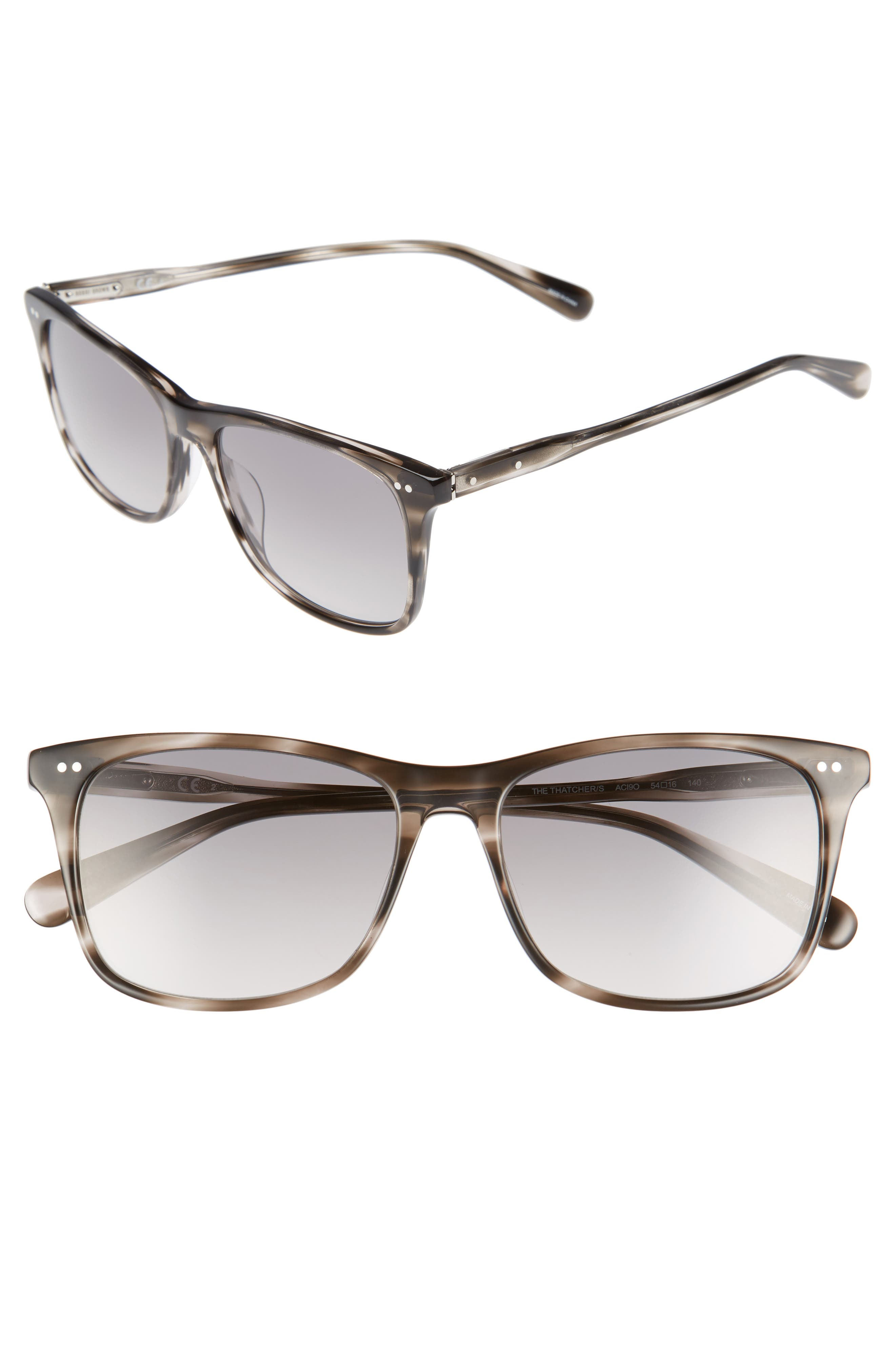 The Thatcher 54mm Gradient Sunglasses,                         Main,                         color, Grey Havana