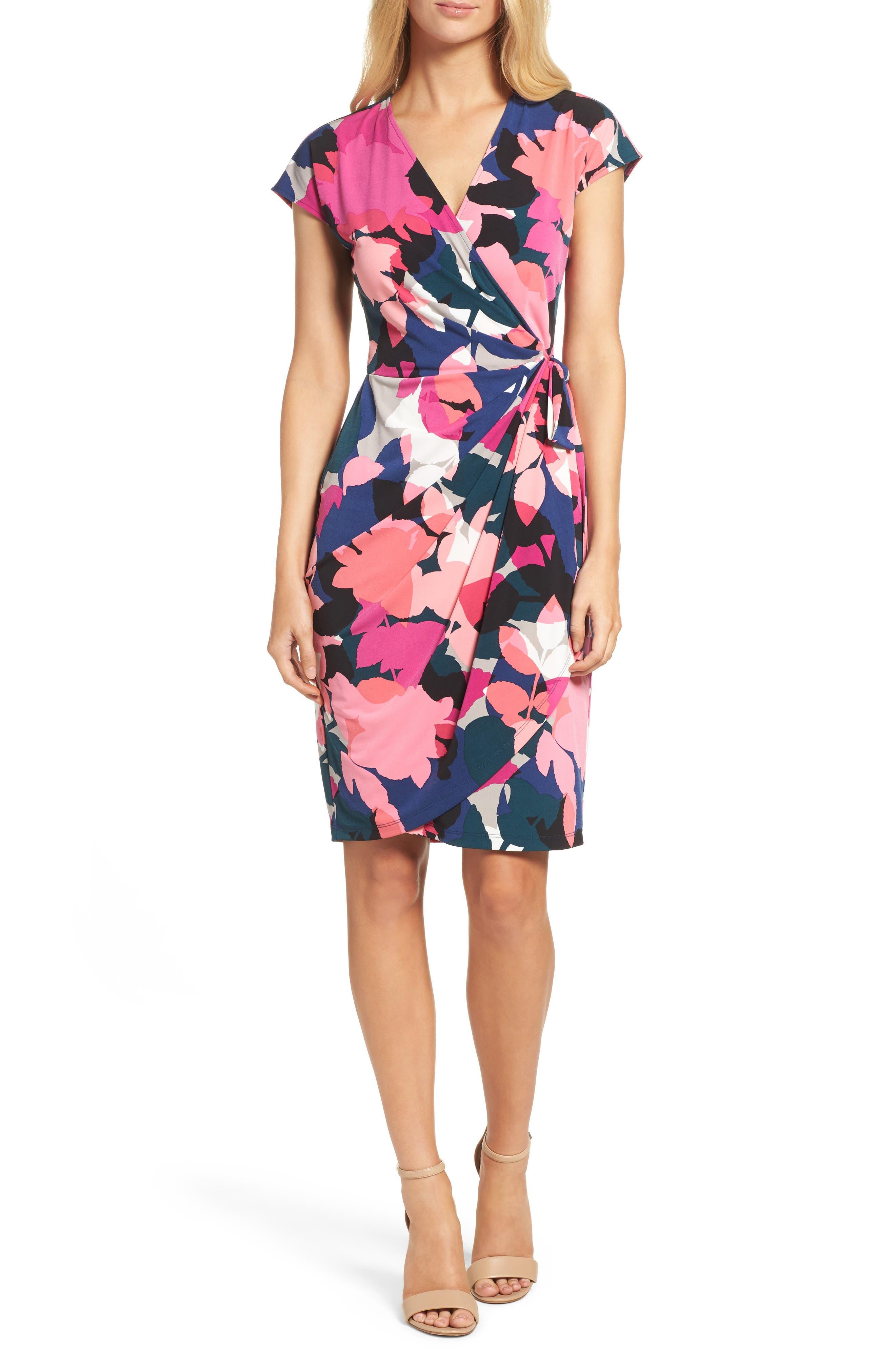 Alternate Image 1 Selected - Maggy London Jersey Wrap Dress (Regular & Petite)