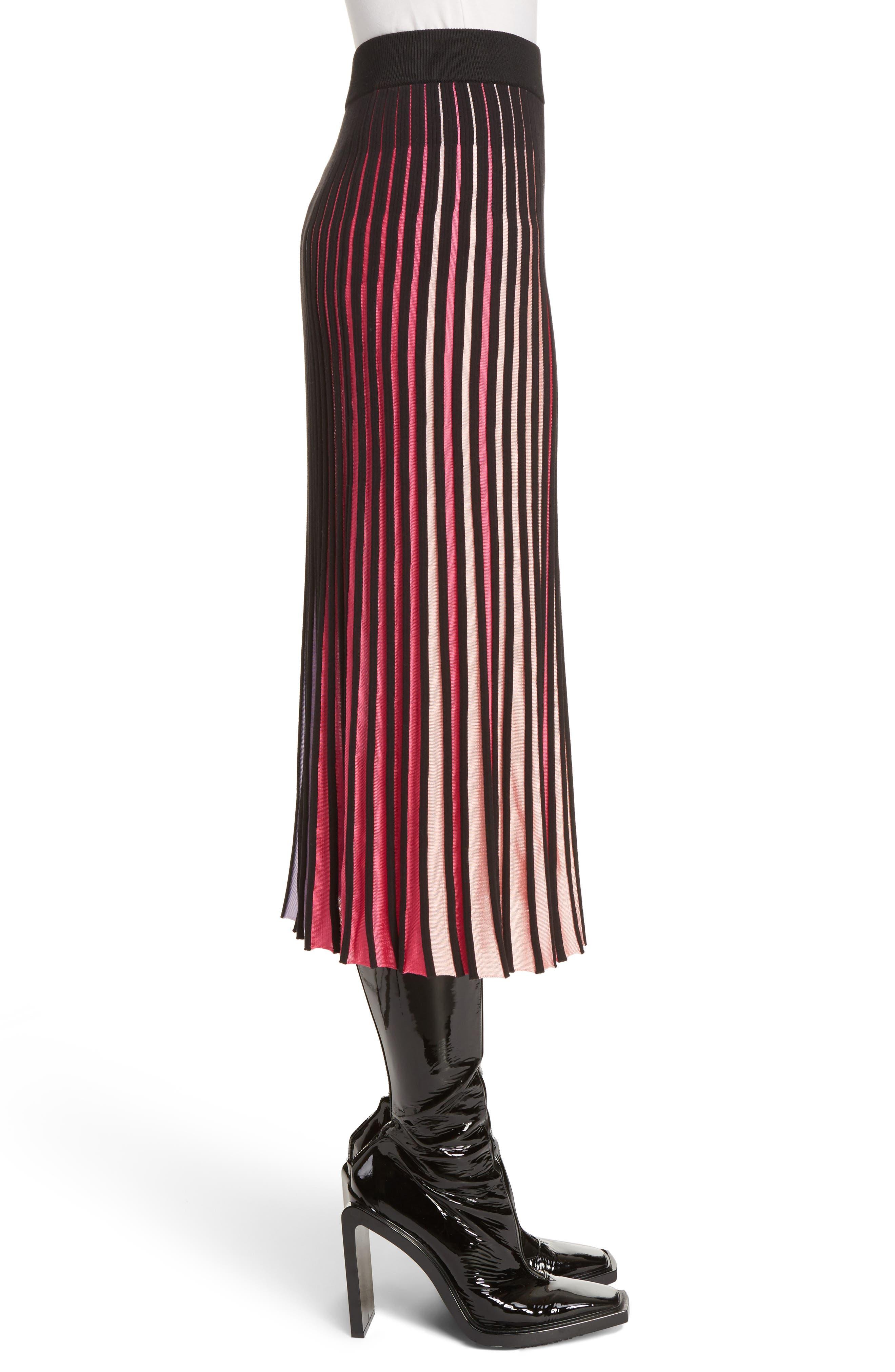 Rib Knit Flare Skirt,                             Alternate thumbnail 4, color,                             Multicolor