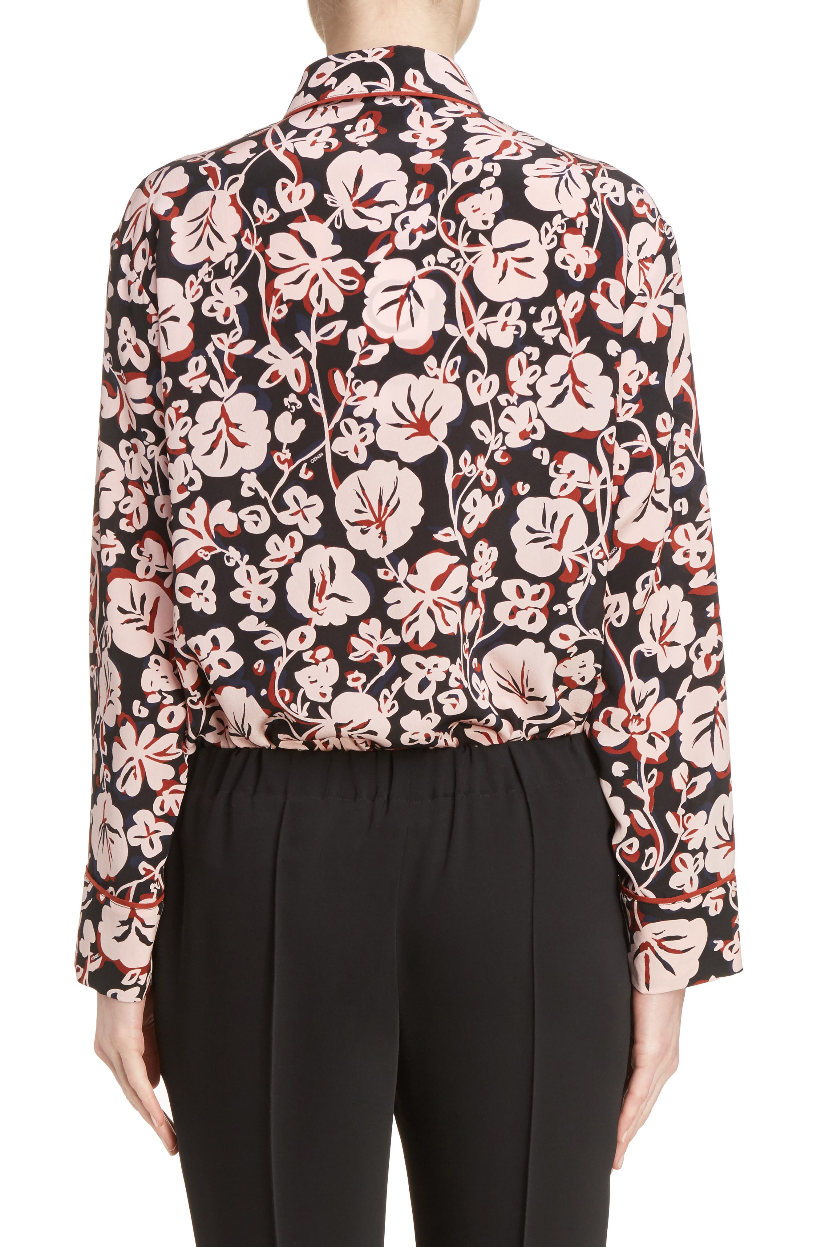 Alternate Image 3  - KENZO Floral Print Silk Shirt