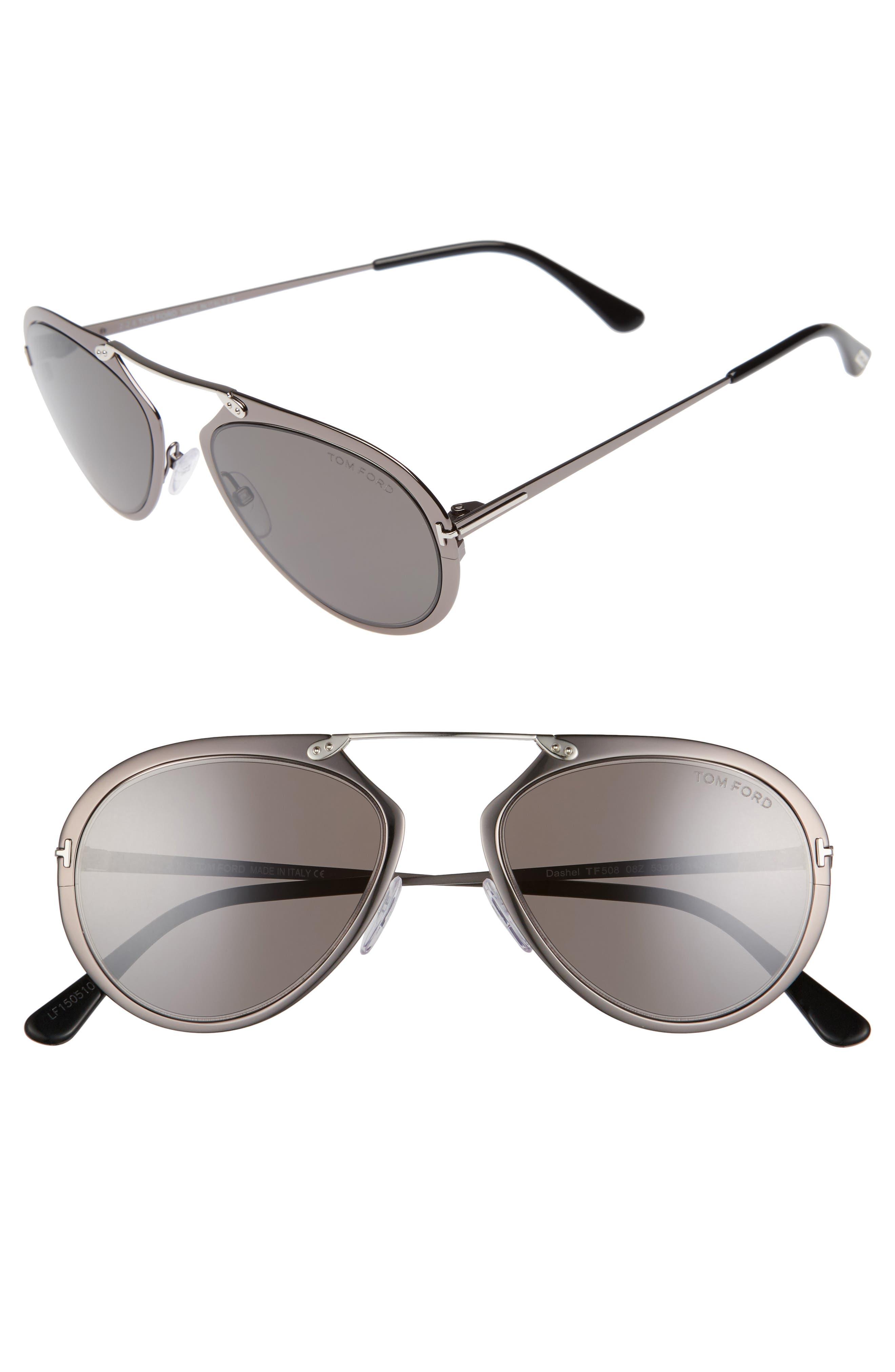 Tom Ford Dashel 58mm Aviator Sunglasses
