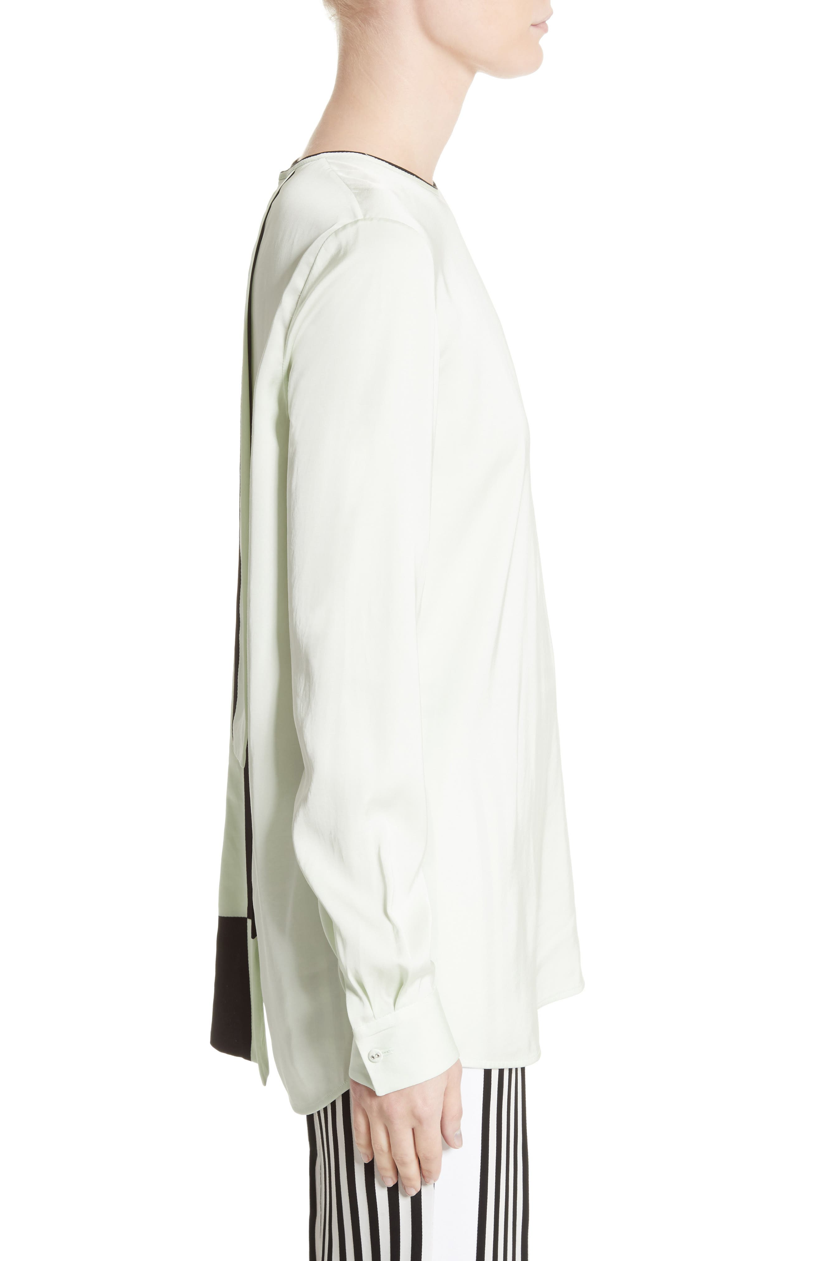 Alternate Image 4  - Victoria, Victoria Beckham Tie Back Blouse