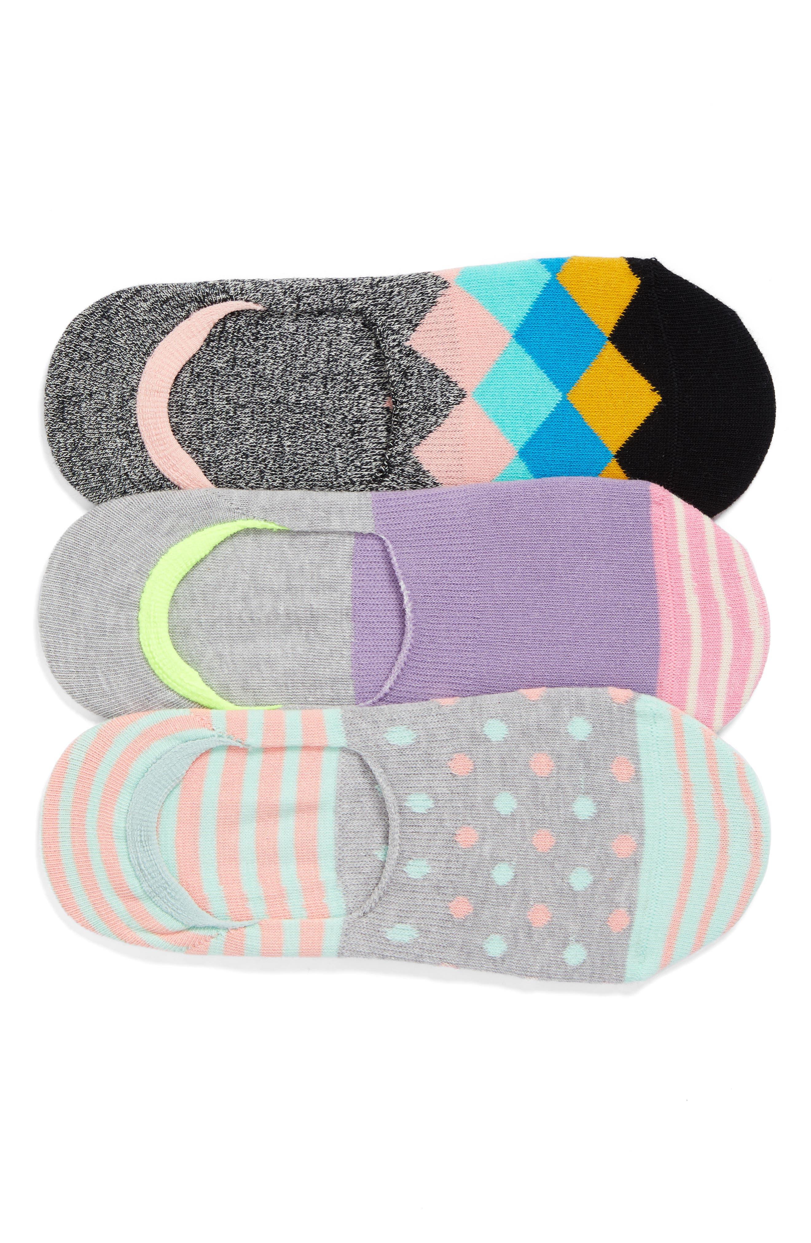 Happy Socks Assorted 3-Pack Liner Socks