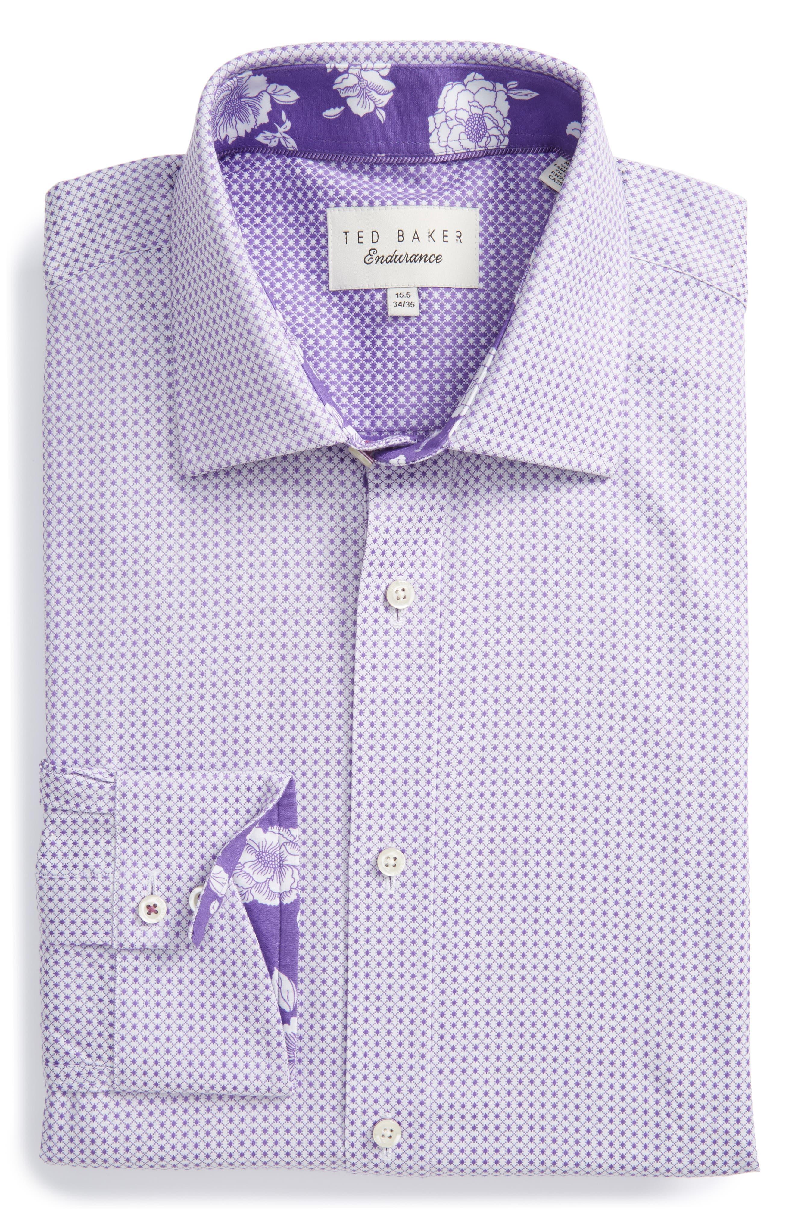 Ted Baker London Eager Trim Fit Geometric Dress Shirt