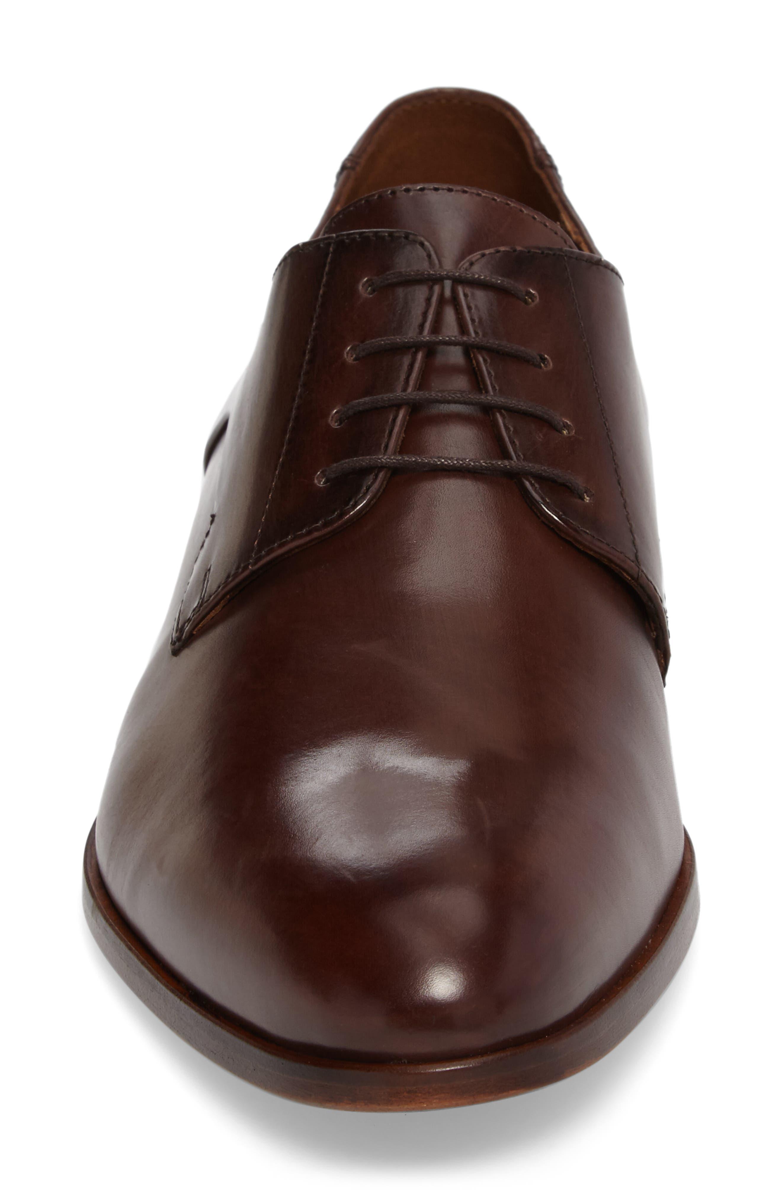 Mannex Plain Toe Derby,                             Alternate thumbnail 4, color,                             T.D.Moro Leather