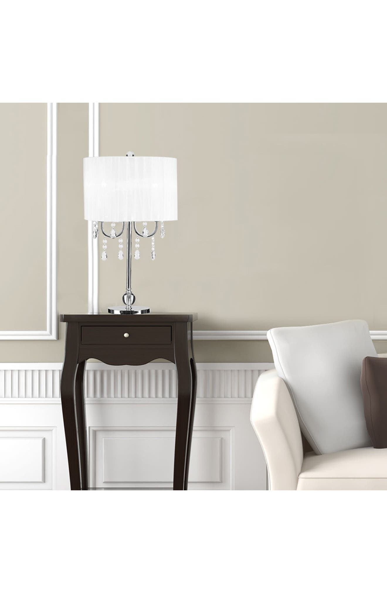 JAlexander Chandelier Table Lamp,                             Alternate thumbnail 2, color,                             White