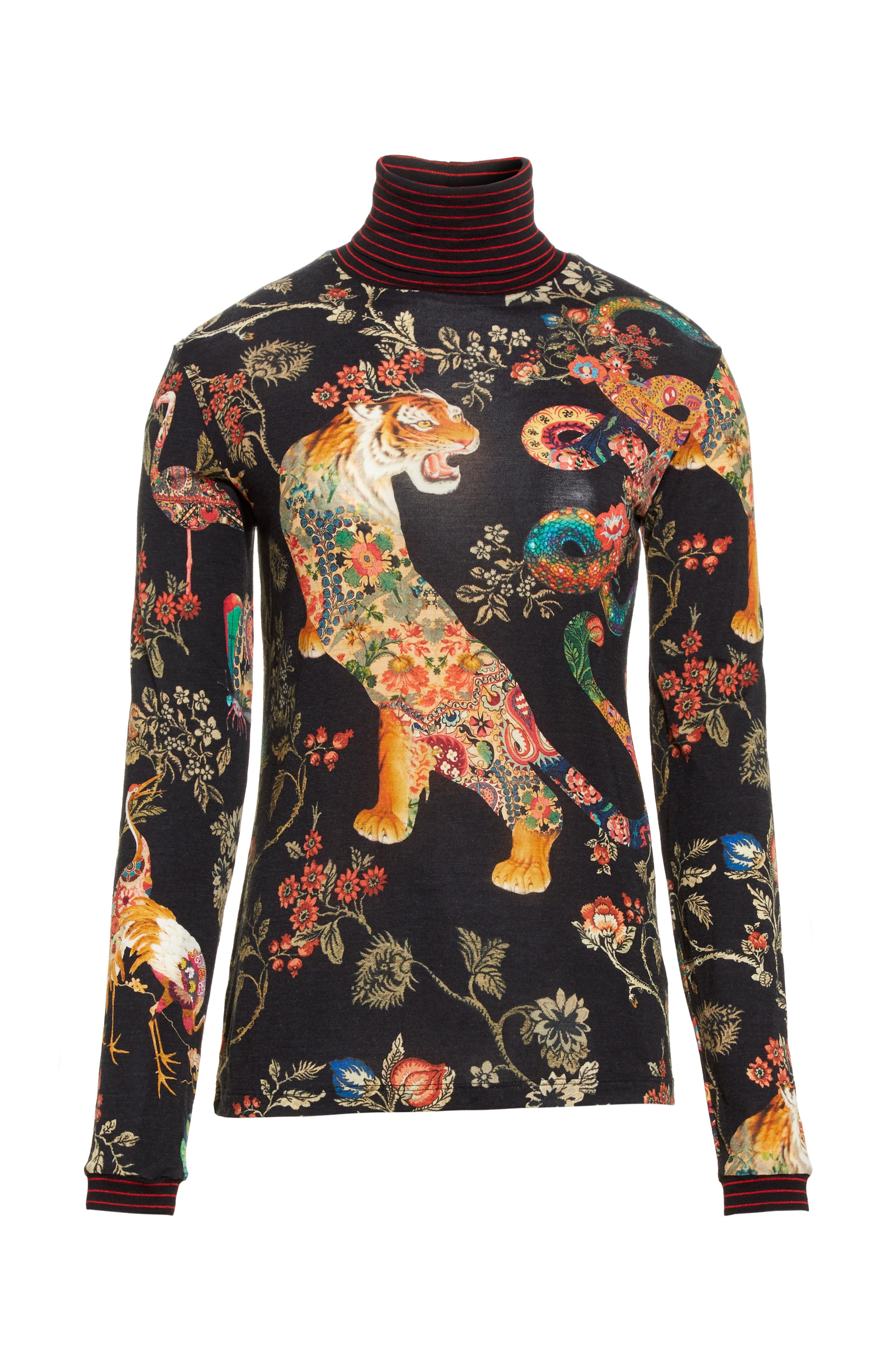 Alternate Image 4  - Etro Tiger Print Mock Neck Sweater