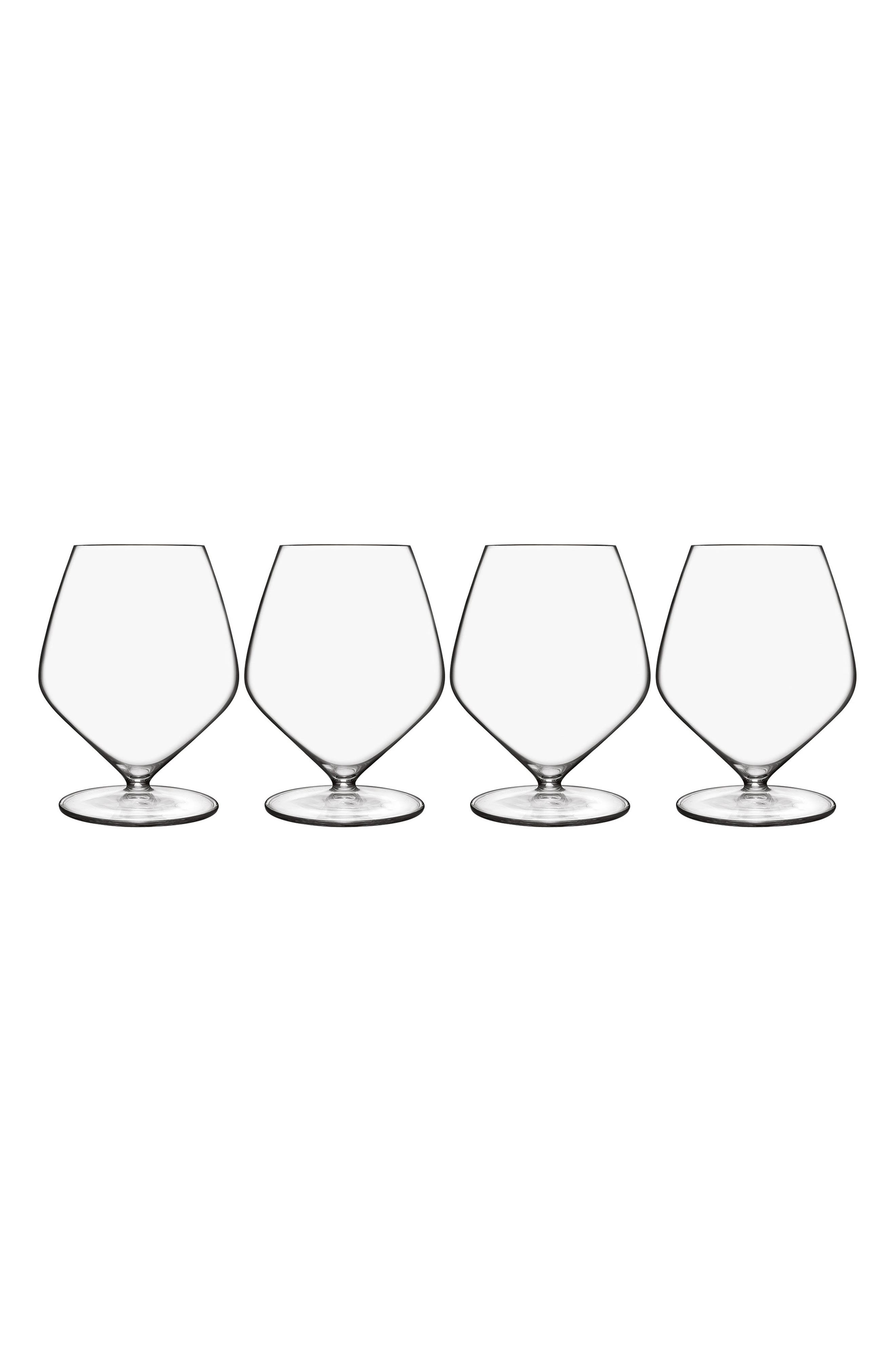 T-Glass Set of 4 Pinot Noir Glasses,                             Main thumbnail 1, color,                             Clear