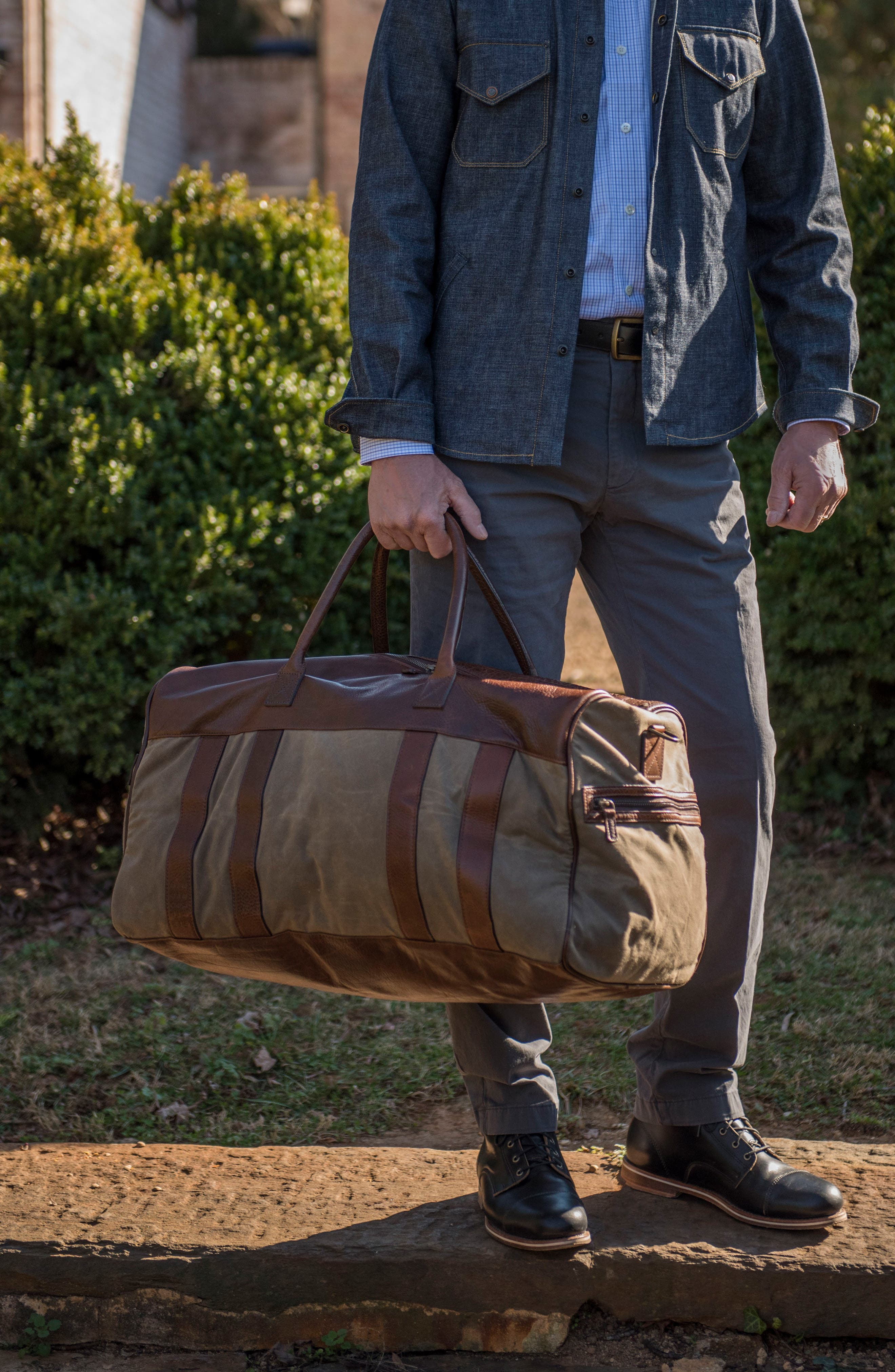 Cleland XL Duffel Bag,                             Alternate thumbnail 3, color,                             Waxwear Rangertan