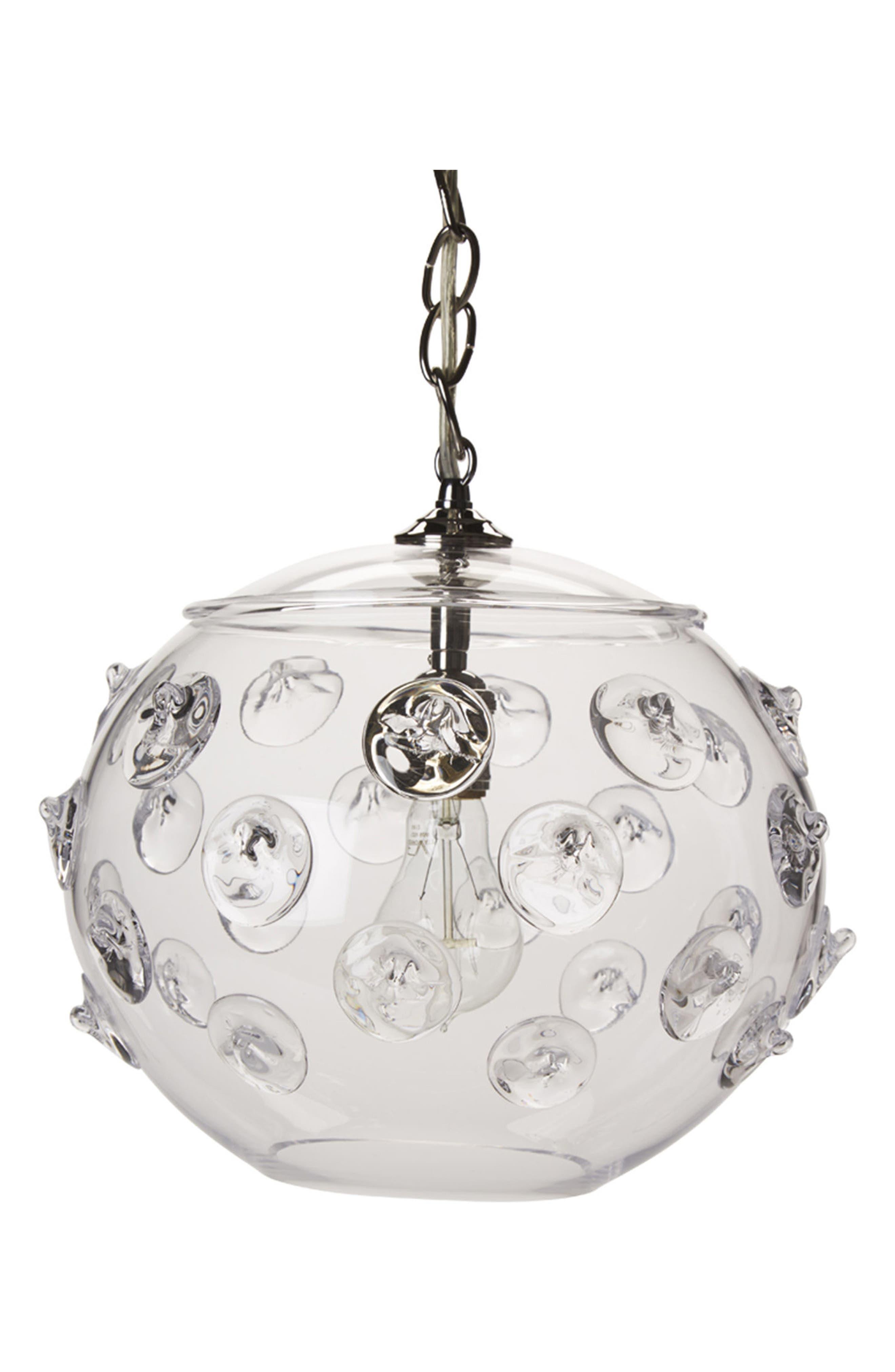 Florence Globe Pendant Lamp,                             Main thumbnail 1, color,                             Clear