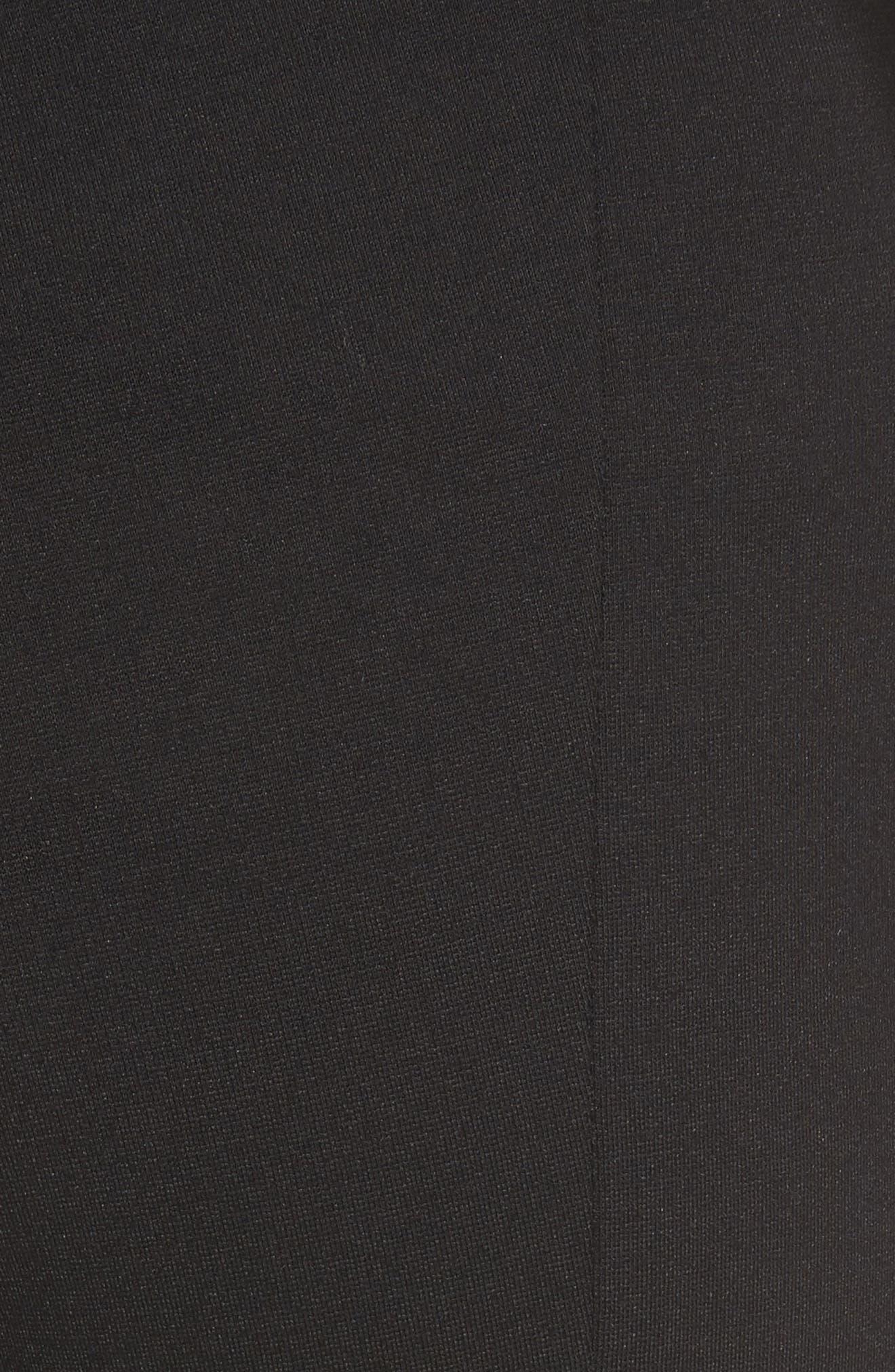 Crop Stretch Knit Trousers,                             Alternate thumbnail 5, color,                             Black