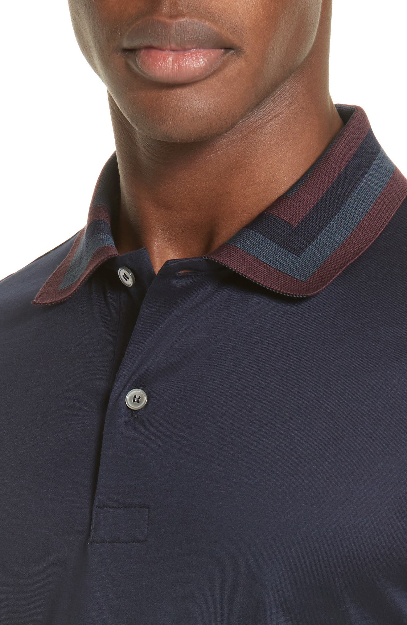 Alternate Image 4  - Paul Smith Colorblock Collar Polo