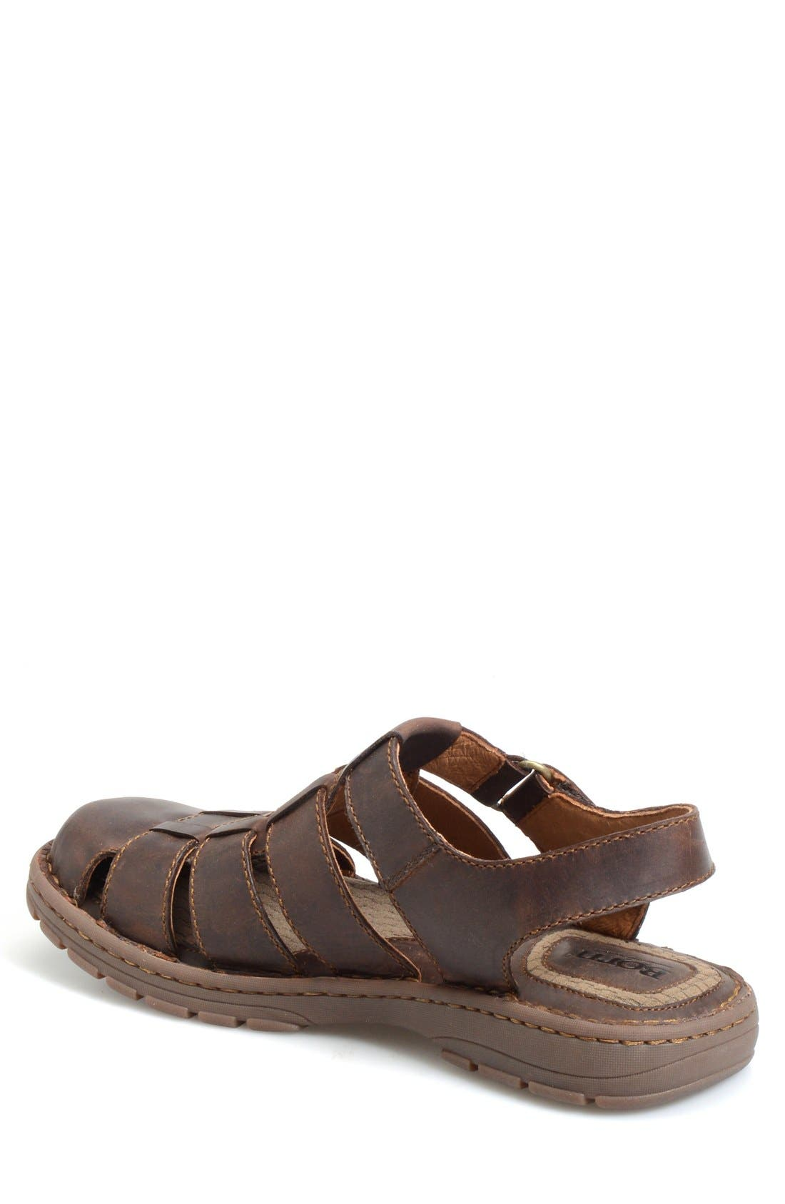 'Osmond' Leather Sandal,                             Alternate thumbnail 2, color,                             Mink