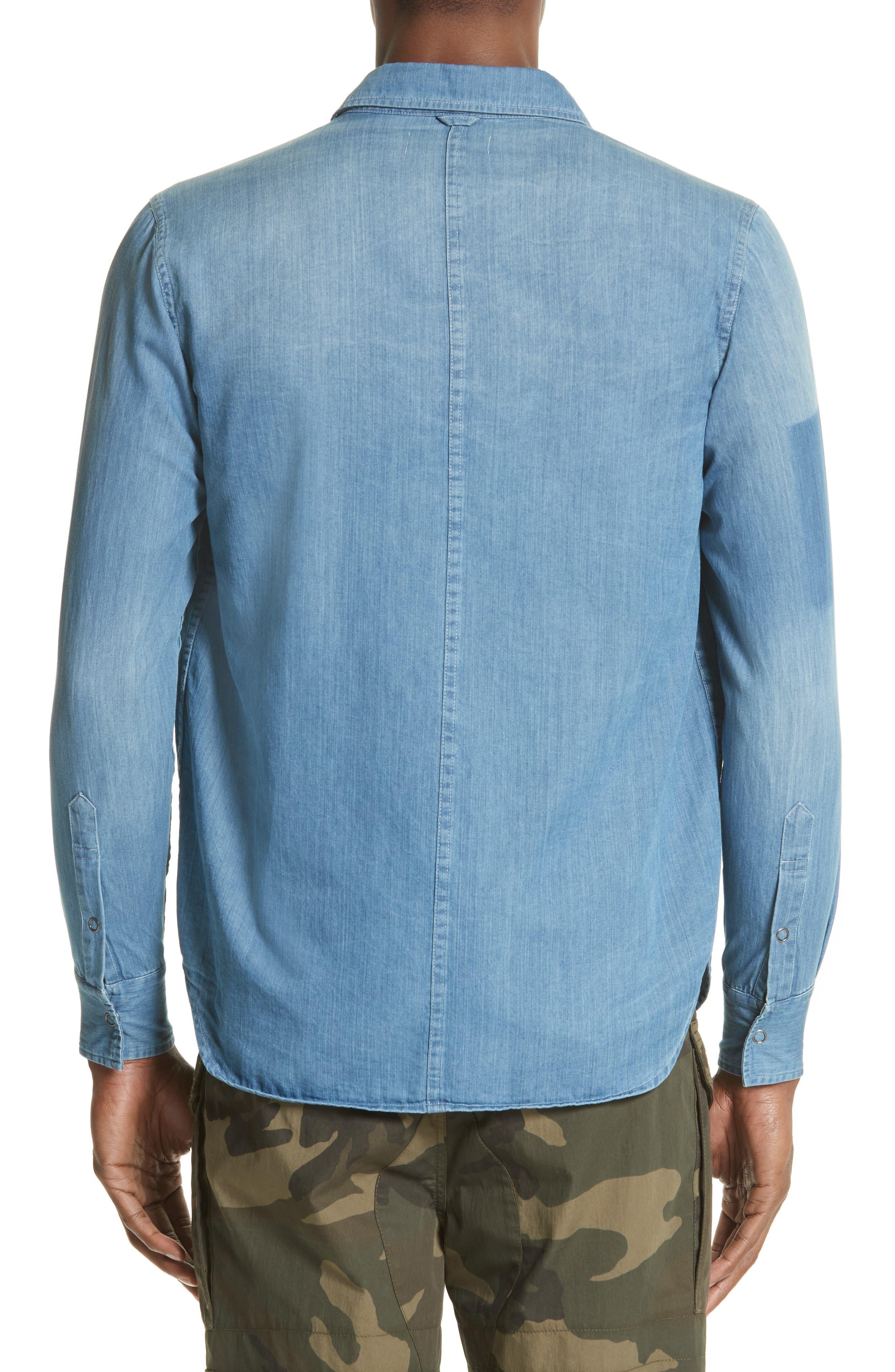 Alternate Image 2  - OVADIA & SONS Eastern Denim Sport Shirt