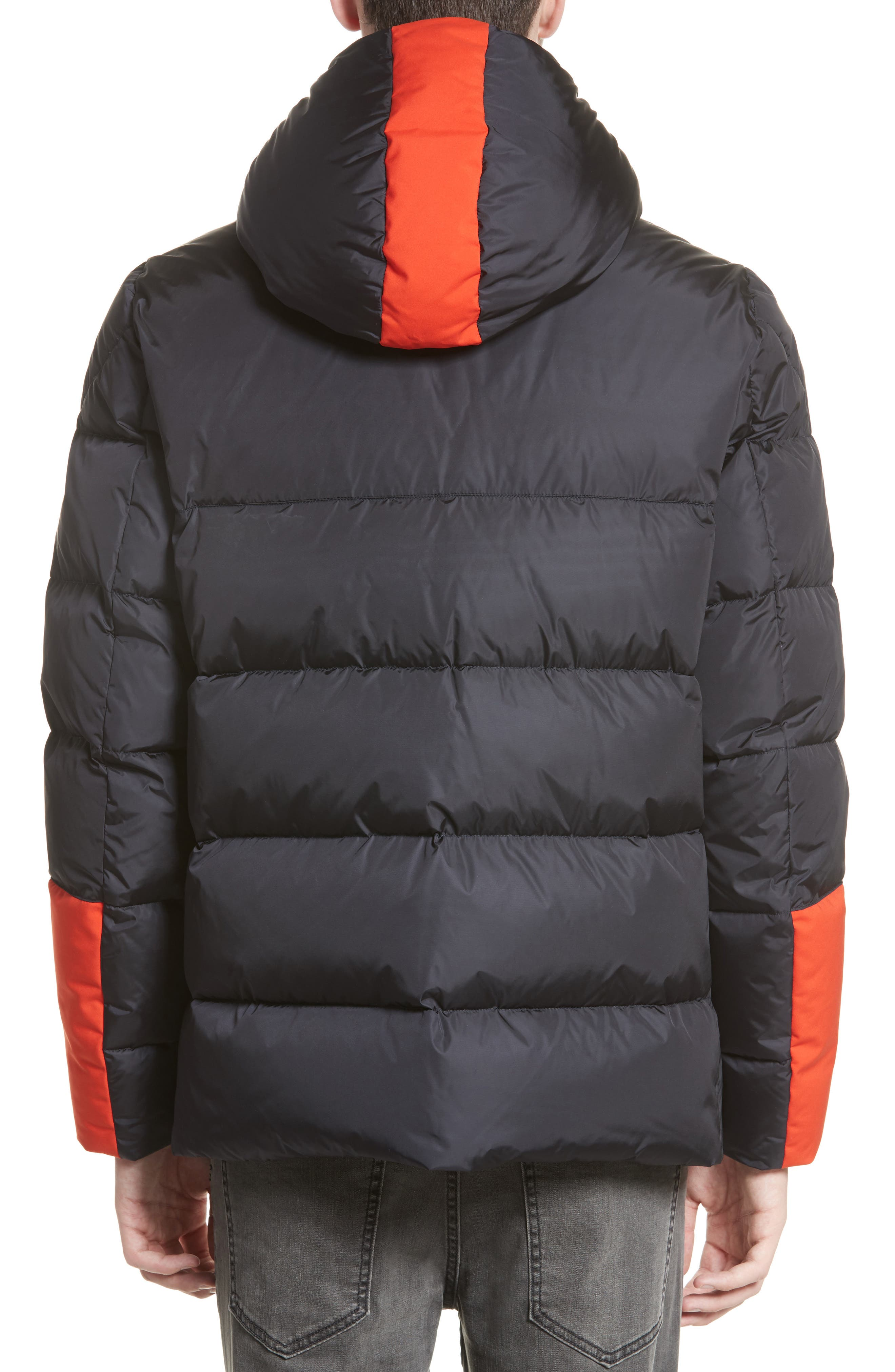 Alternate Image 2  - Moncler Drake Color Pop Hooded Down Coat
