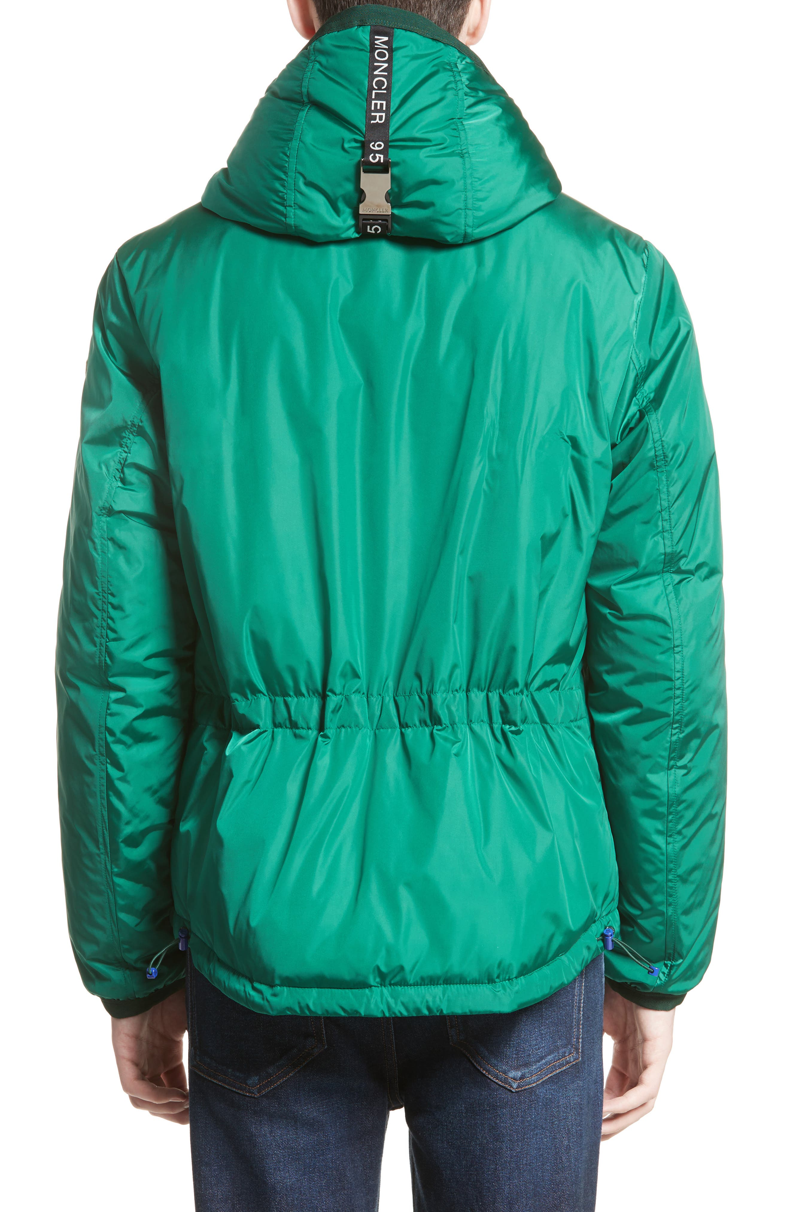 Guimet Hooded Down Jacket,                             Alternate thumbnail 2, color,                             Forest Green