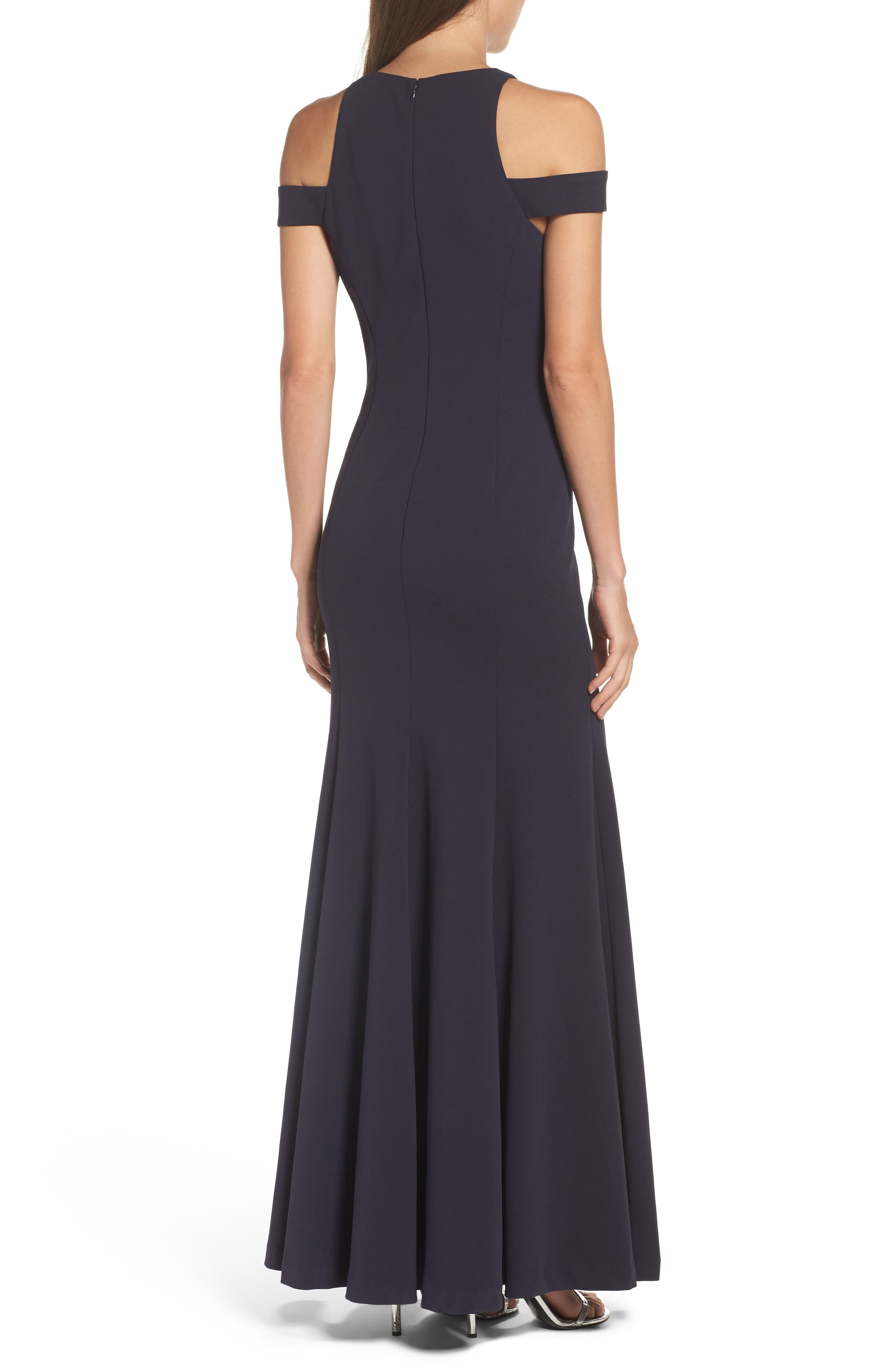 Alternate Image 2  - Vera Wang Cold Shoulder Gown