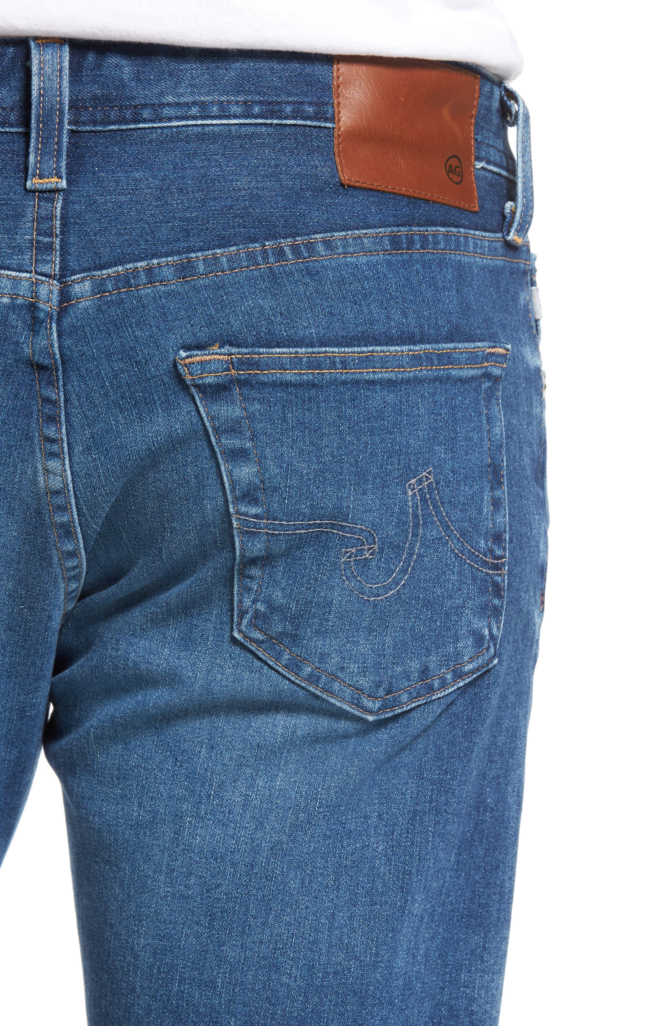 Graduate Slim Straight Leg Jeans,                             Alternate thumbnail 4, color,                             11 Years Delom