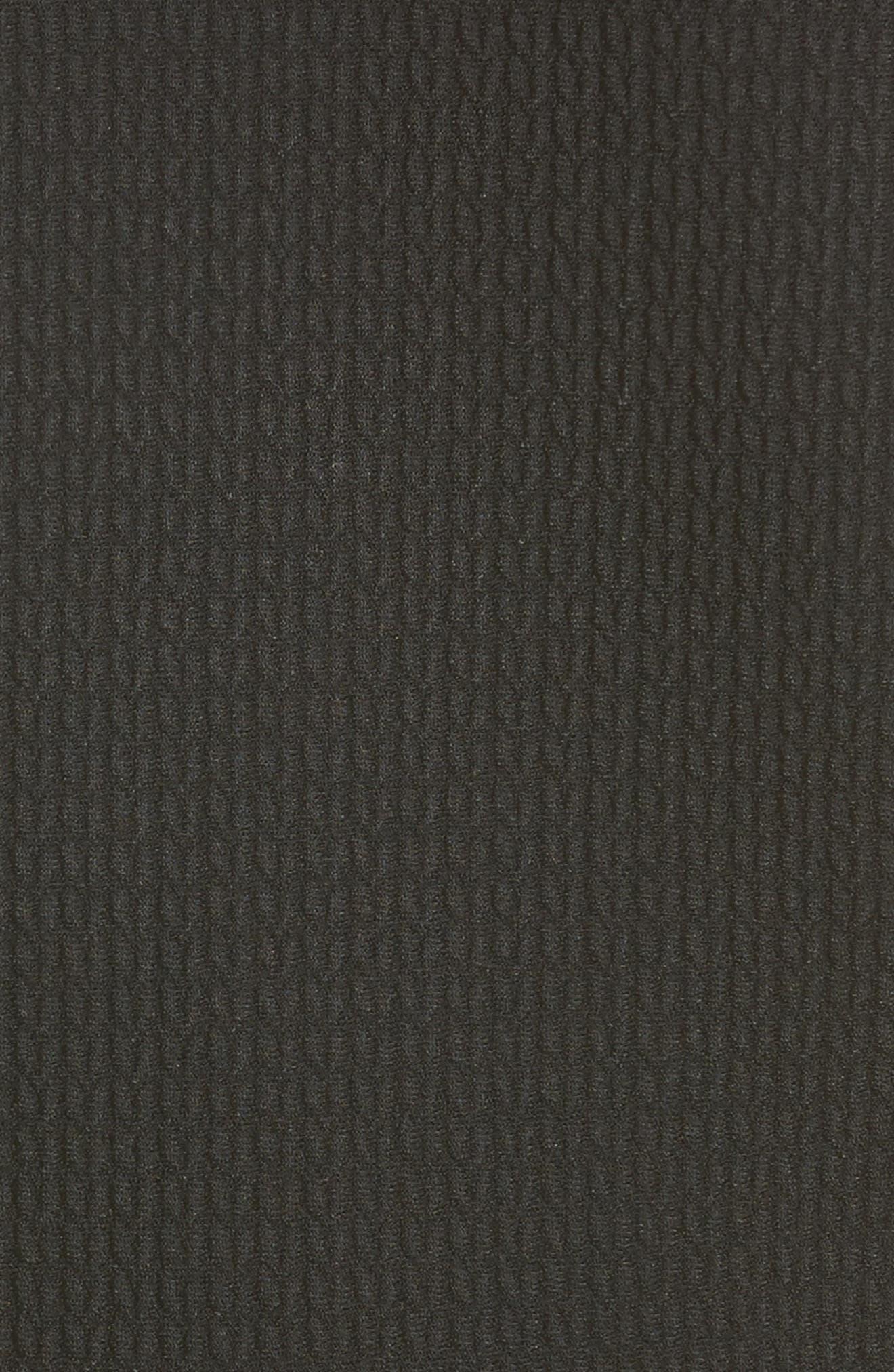 Bicolor Contrast Jacquard Peplum Cardigan,                             Alternate thumbnail 3, color,                             Black/ Ivory