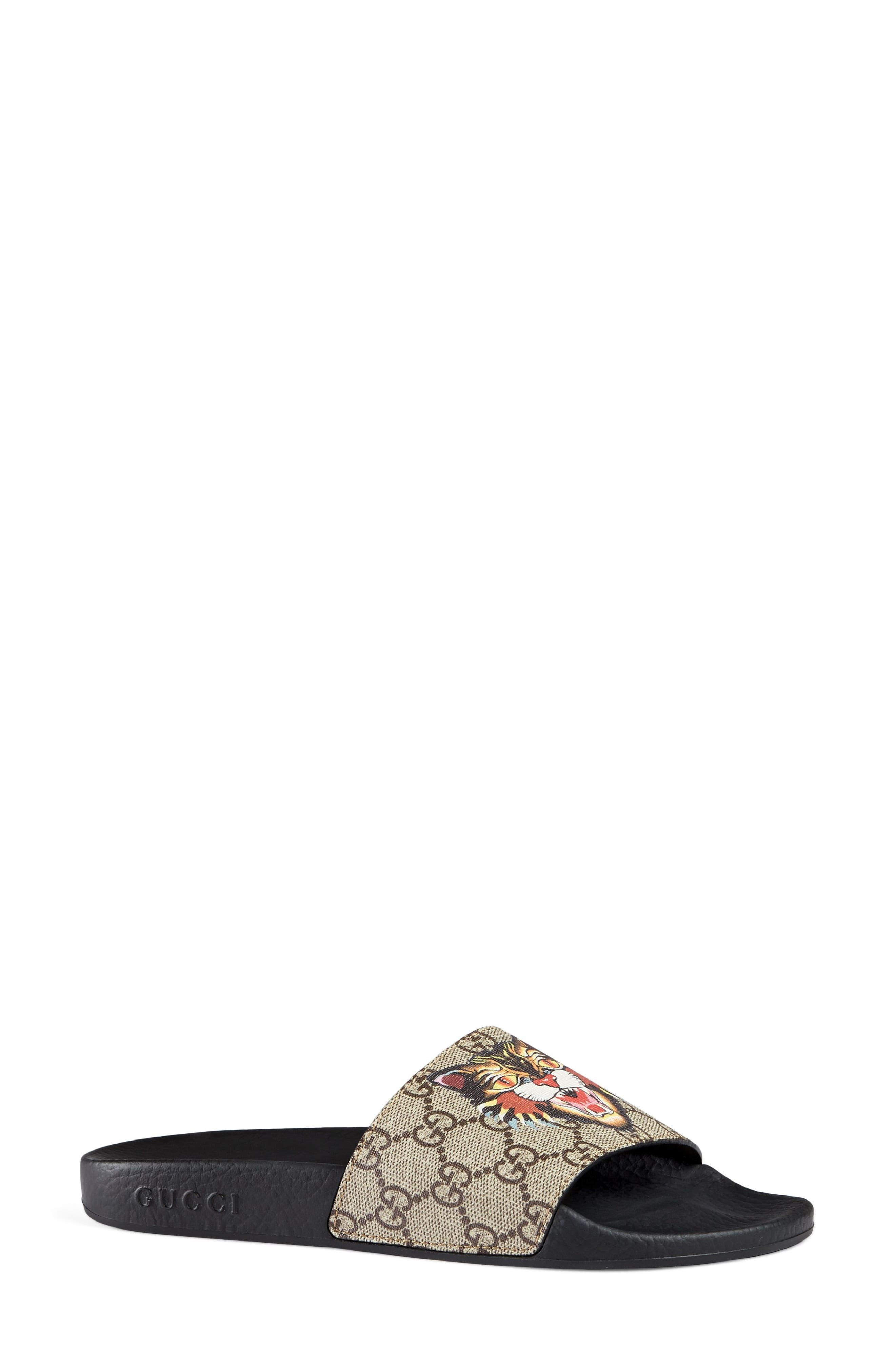 Alternate Image 3  - Gucci Pursuit Tiger Print Slide Sandal (Women)