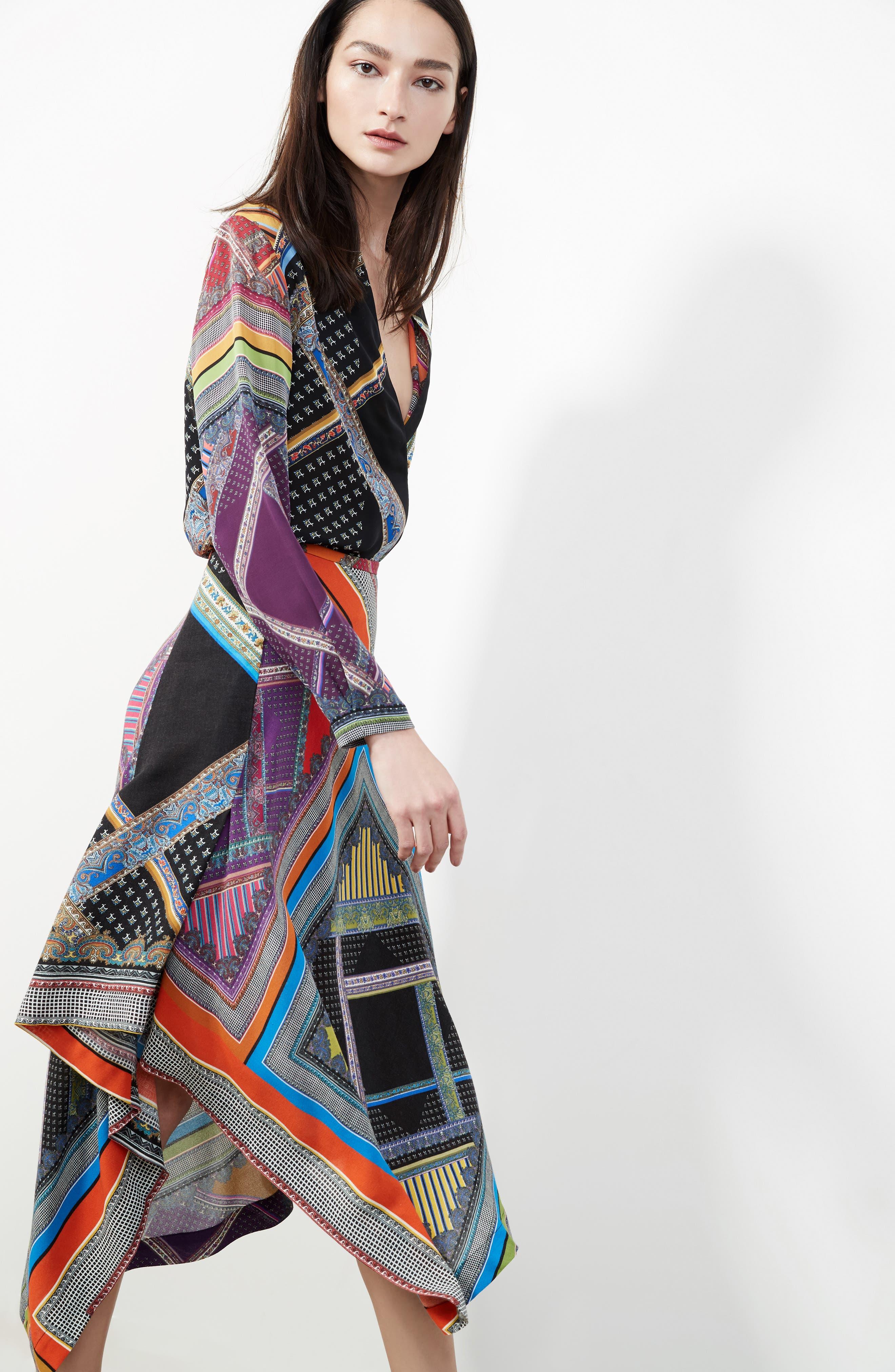 Alternate Image 8  - Etro Patchwork Print Silk Faux Wrap Blouse