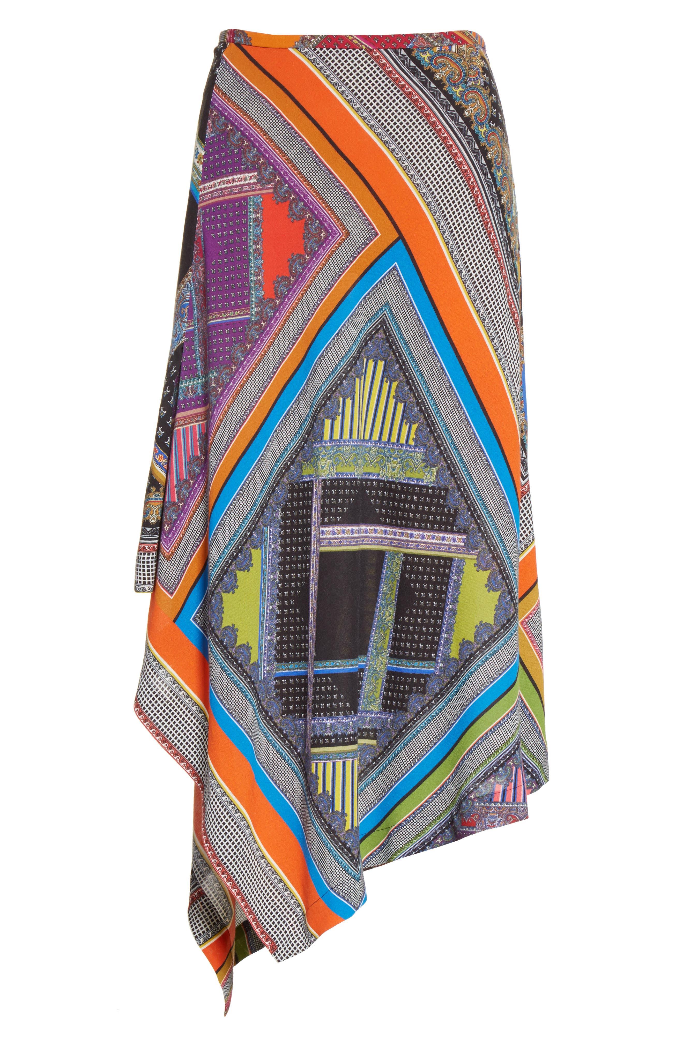 Alternate Image 4  - Etro Patchwork Print Asymmetrical Skirt
