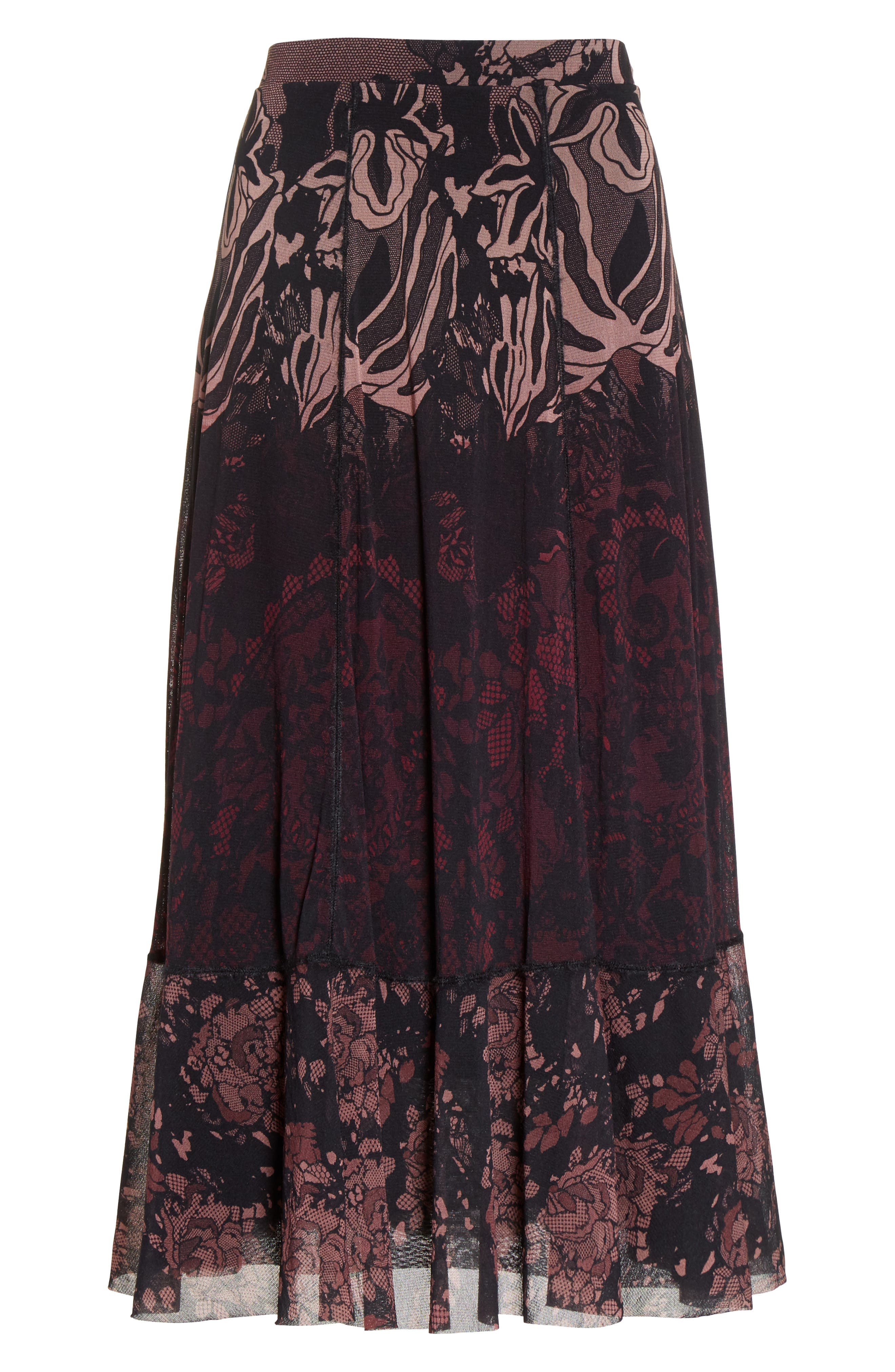 Tulle Midi Skirt,                             Alternate thumbnail 4, color,                             Plum